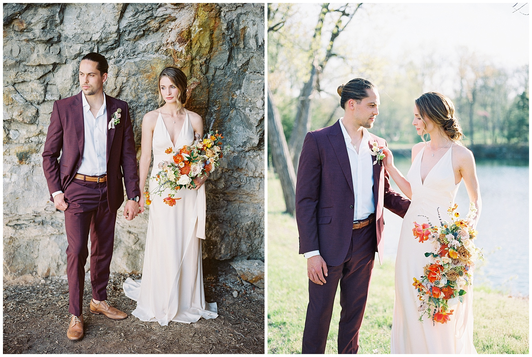 Intimate Spanish and French Inspired Destination Wedding with Lakeside Dinner Party at Dusk at Wildcliff by Kelsi Kliethermes Photography Best Missouri and Maui Wedding Photographer_0047.jpg