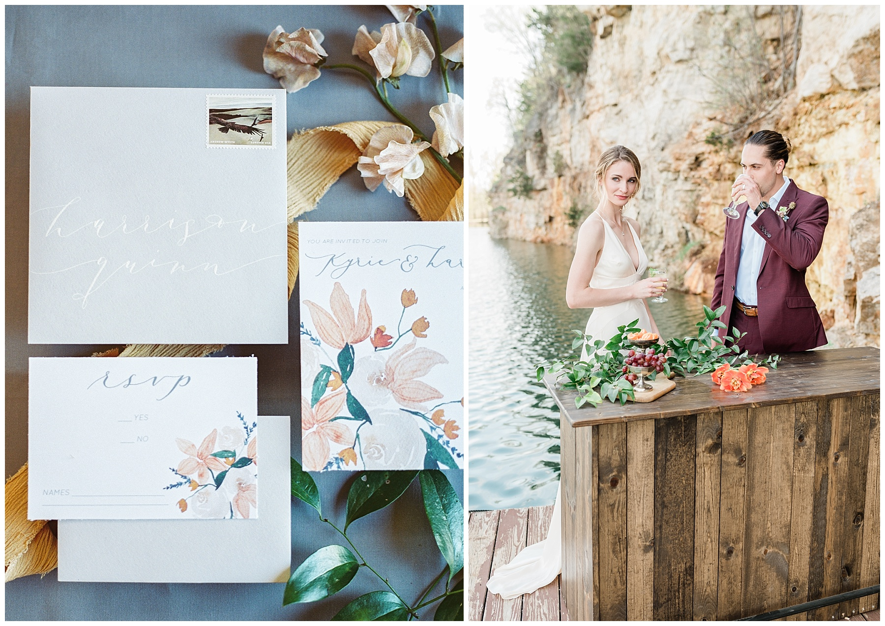 Intimate Spanish and French Inspired Destination Wedding with Lakeside Dinner Party at Dusk at Wildcliff by Kelsi Kliethermes Photography Best Missouri and Maui Wedding Photographer_0048.jpg