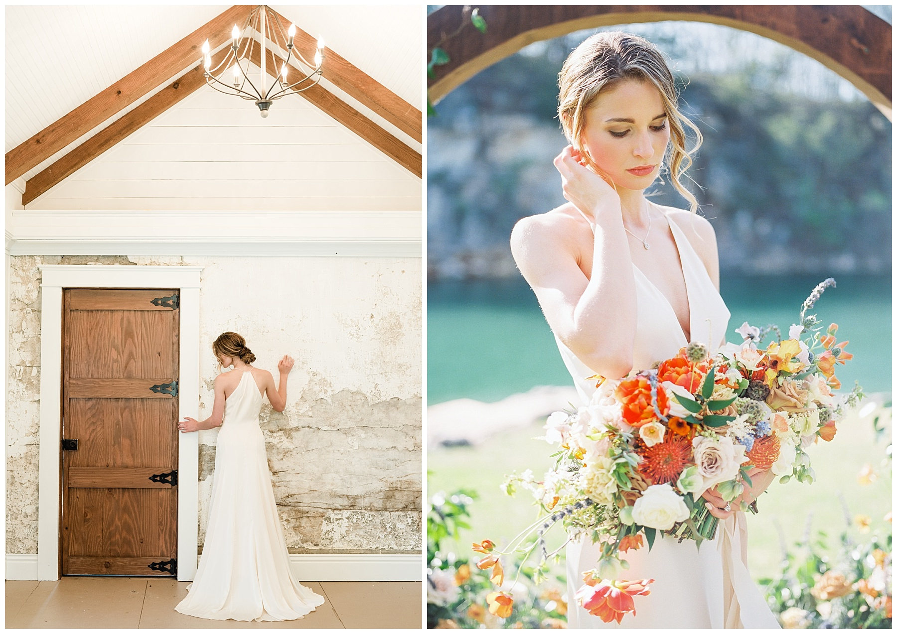 Intimate Spanish and French Inspired Destination Wedding with Lakeside Dinner Party at Dusk at Wildcliff by Kelsi Kliethermes Photography Best Missouri and Maui Wedding Photographer_0049.jpg