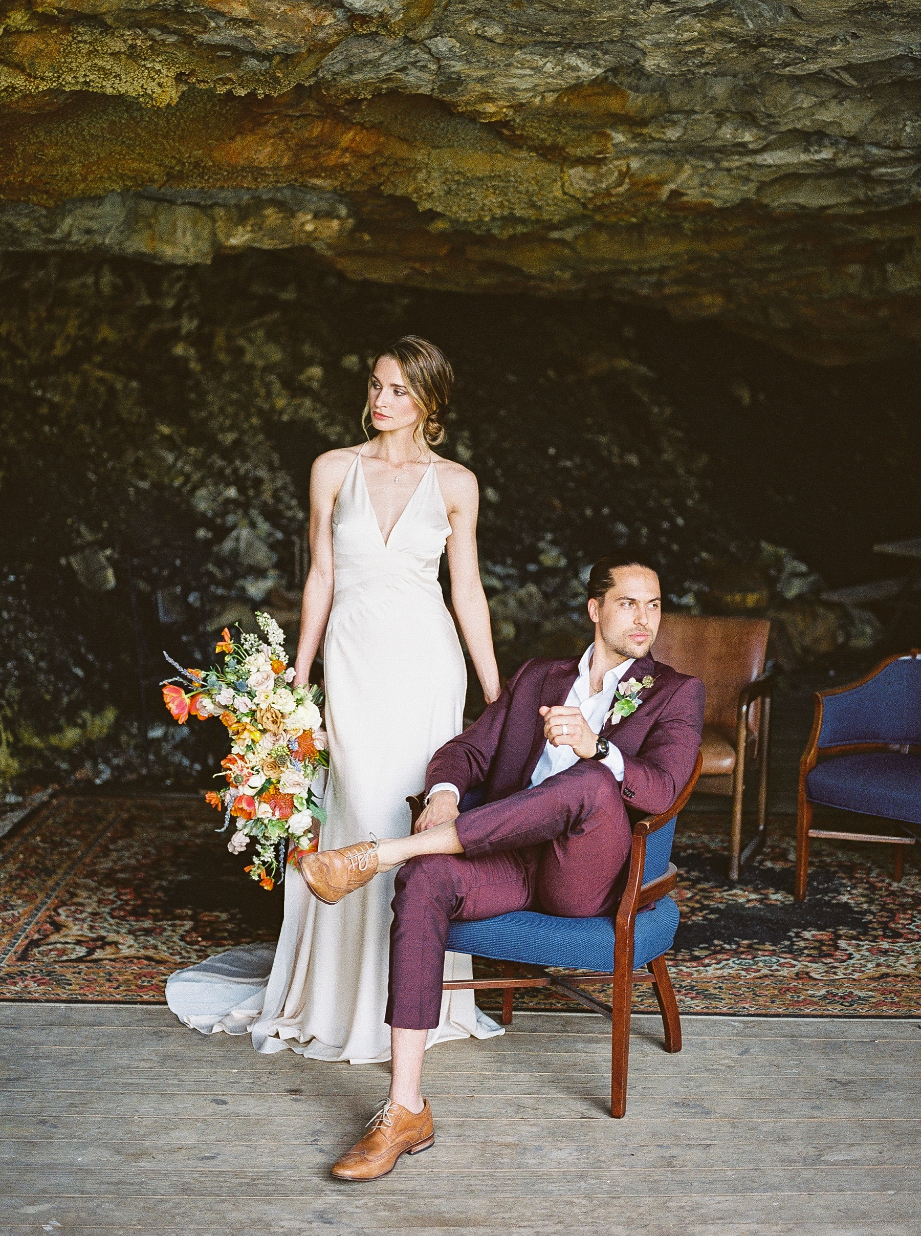 Intimate Spanish and French Inspired Destination Wedding with Lakeside Dinner Party at Dusk at Wildcliff by Kelsi Kliethermes Photography Best Missouri and Maui Wedding Photographer_0054.jpg