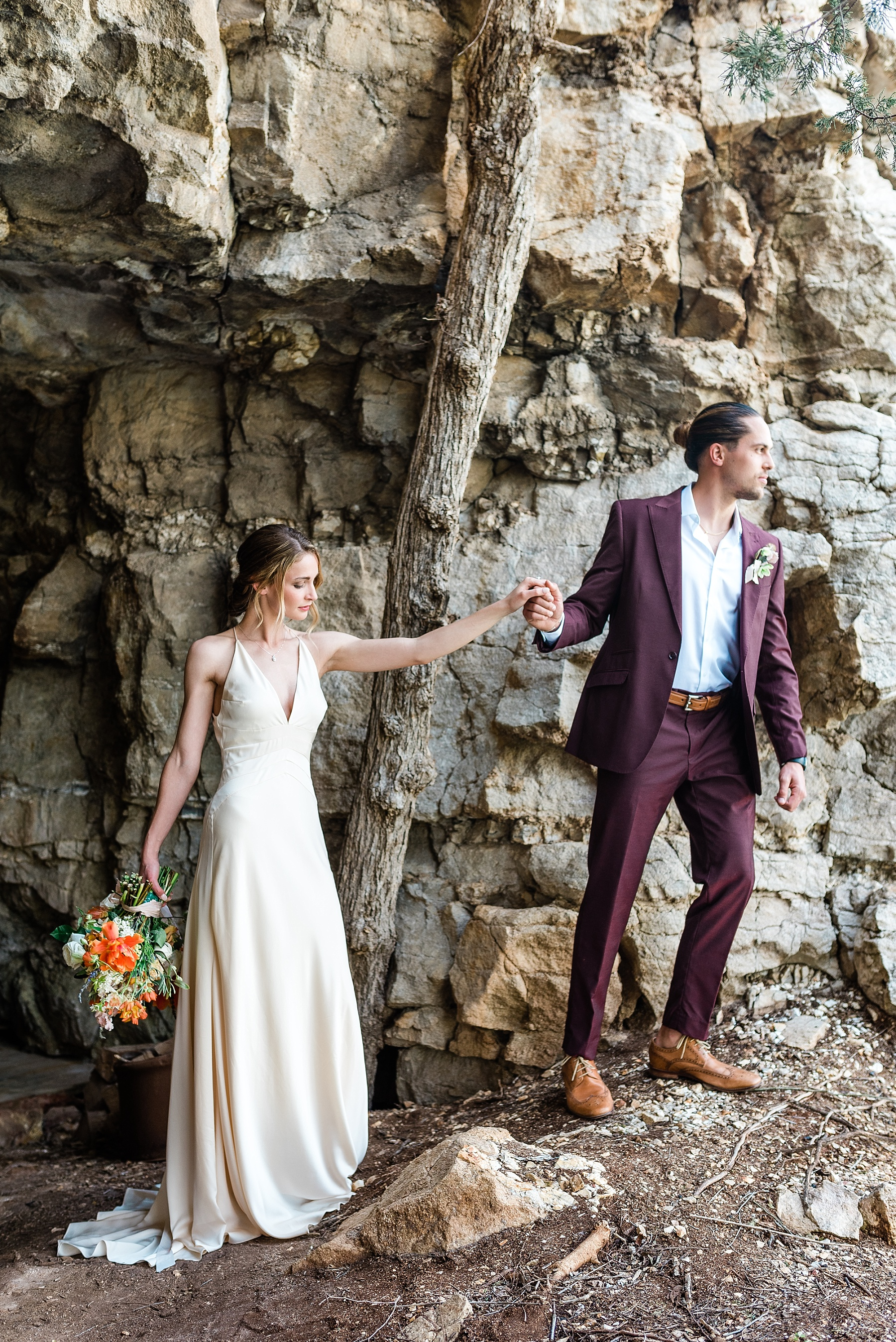 Intimate Spanish and French Inspired Destination Wedding with Lakeside Dinner Party at Dusk at Wildcliff by Kelsi Kliethermes Photography Best Missouri and Maui Wedding Photographer_0057.jpg