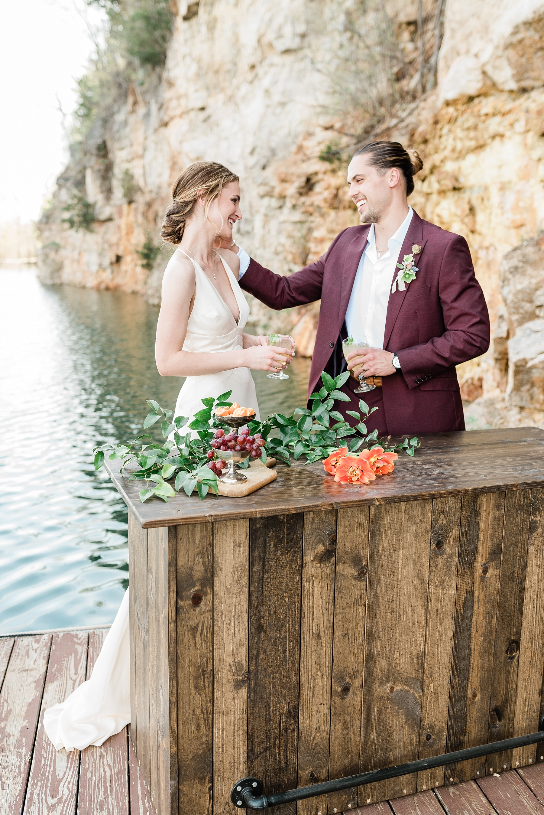 Intimate Spanish and French Inspired Destination Wedding with Lakeside Dinner Party at Dusk at Wildcliff by Kelsi Kliethermes Photography Best Missouri and Maui Wedding Photographer_0060.jpg
