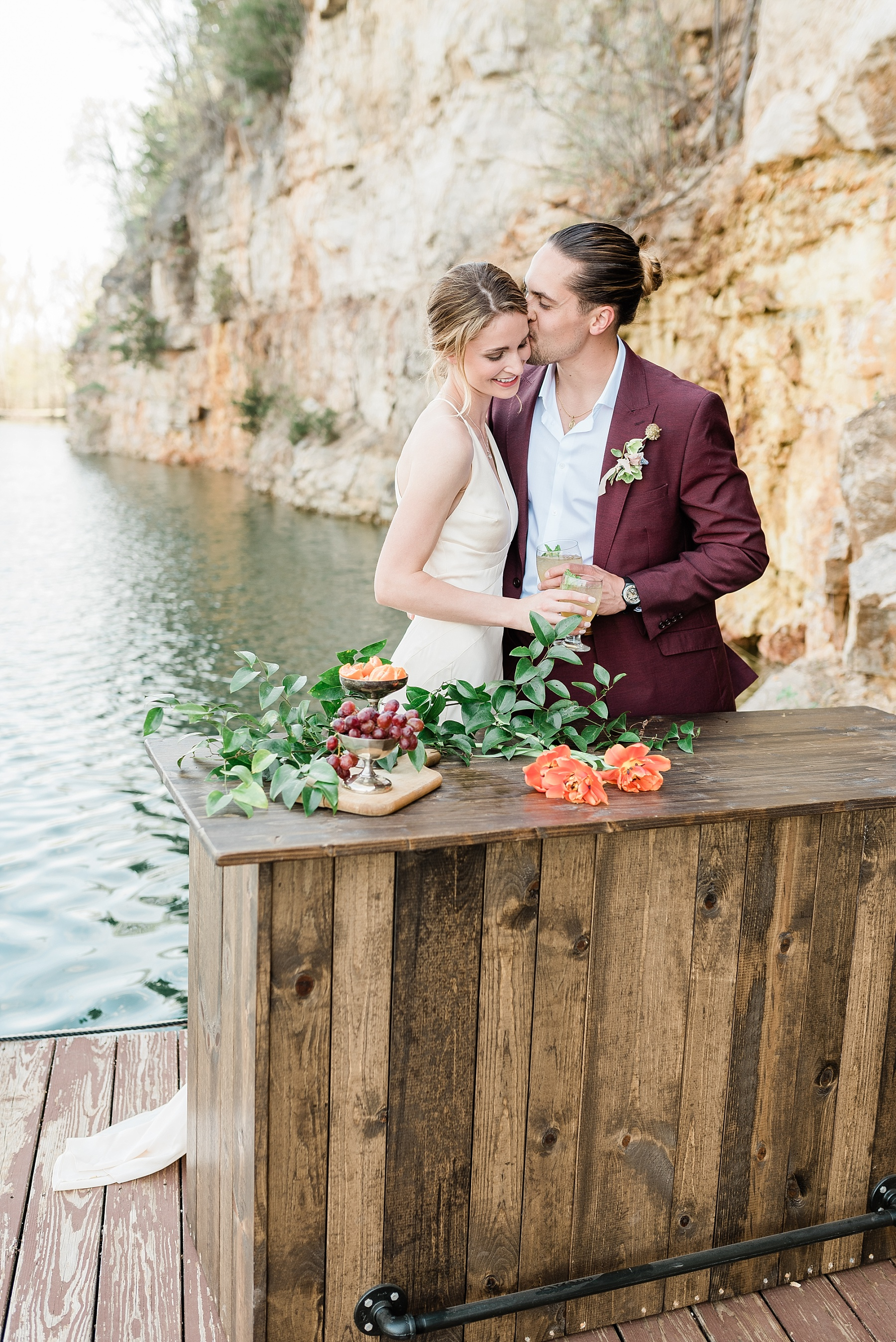 Intimate Spanish and French Inspired Destination Wedding with Lakeside Dinner Party at Dusk at Wildcliff by Kelsi Kliethermes Photography Best Missouri and Maui Wedding Photographer_0061.jpg