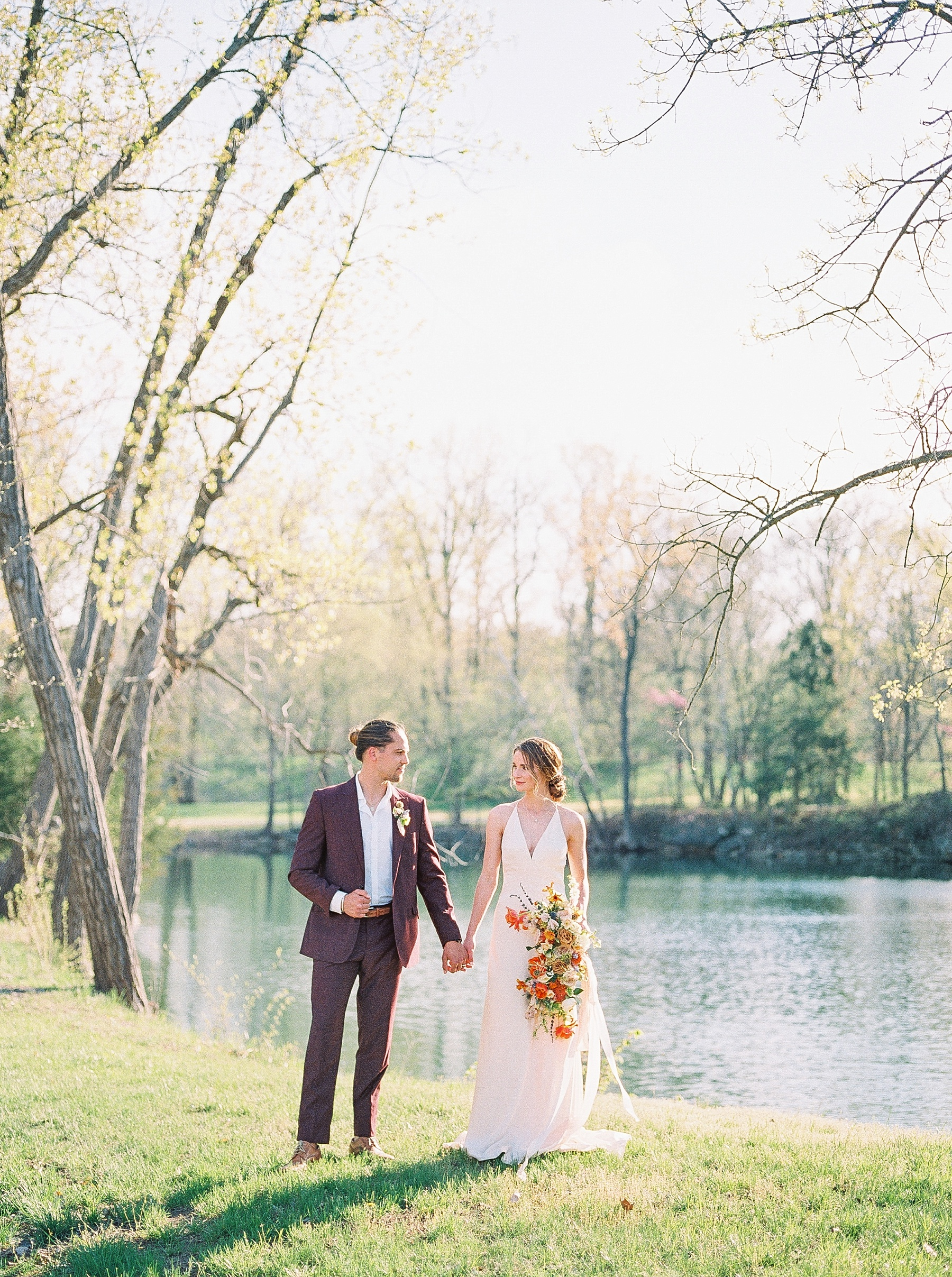 Intimate Spanish and French Inspired Destination Wedding with Lakeside Dinner Party at Dusk at Wildcliff by Kelsi Kliethermes Photography Best Missouri and Maui Wedding Photographer_0072.jpg
