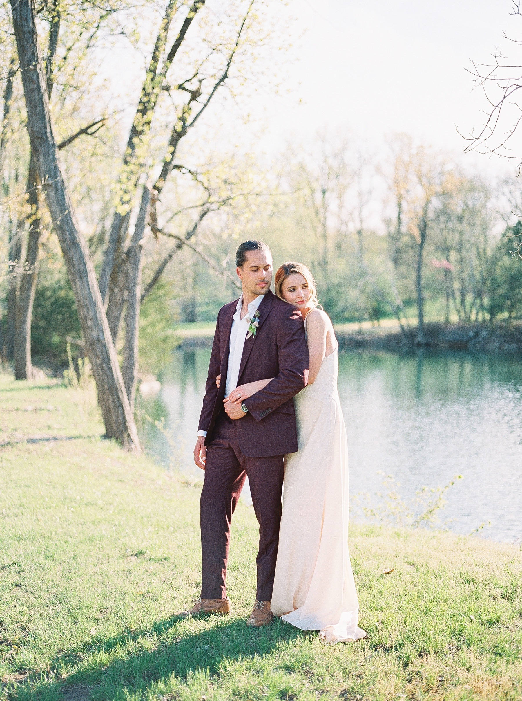 Intimate Spanish and French Inspired Destination Wedding with Lakeside Dinner Party at Dusk at Wildcliff by Kelsi Kliethermes Photography Best Missouri and Maui Wedding Photographer_0073.jpg