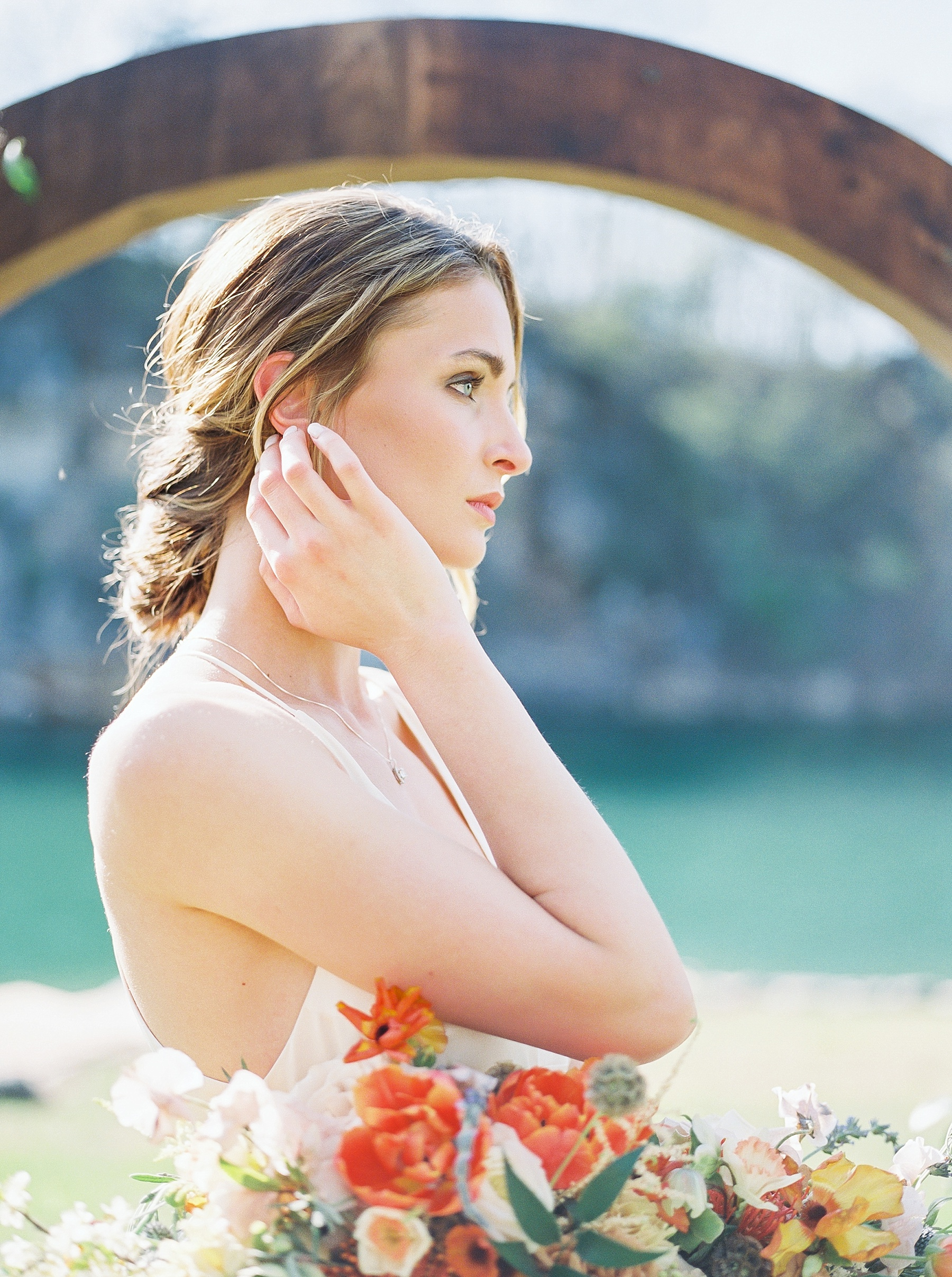 Intimate Spanish and French Inspired Destination Wedding with Lakeside Dinner Party at Dusk at Wildcliff by Kelsi Kliethermes Photography Best Missouri and Maui Wedding Photographer_0078.jpg