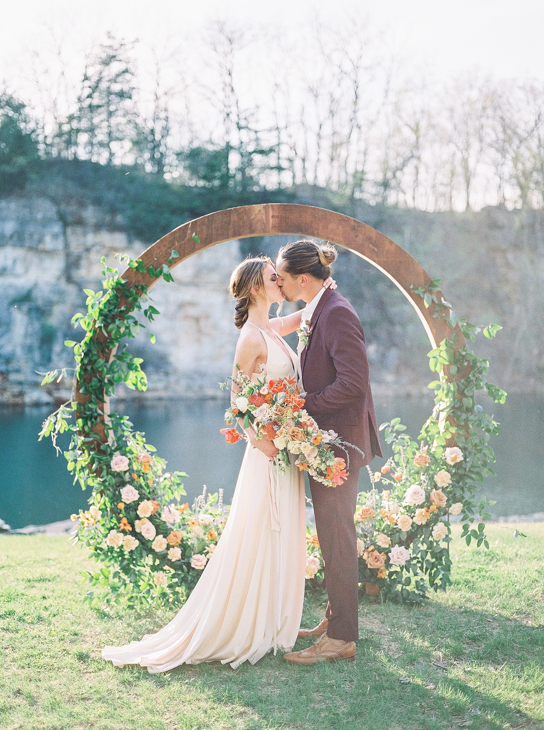 Intimate Spanish and French Inspired Destination Wedding with Lakeside Dinner Party at Dusk at Wildcliff by Kelsi Kliethermes Photography Best Missouri and Maui Wedding Photographer_0081.jpg