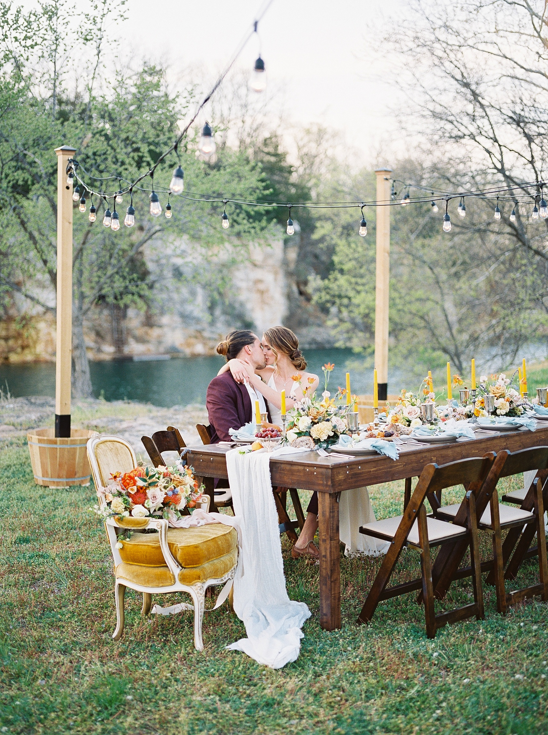 Intimate Spanish and French Inspired Destination Wedding with Lakeside Dinner Party at Dusk at Wildcliff by Kelsi Kliethermes Photography Best Missouri and Maui Wedding Photographer_0082.jpg