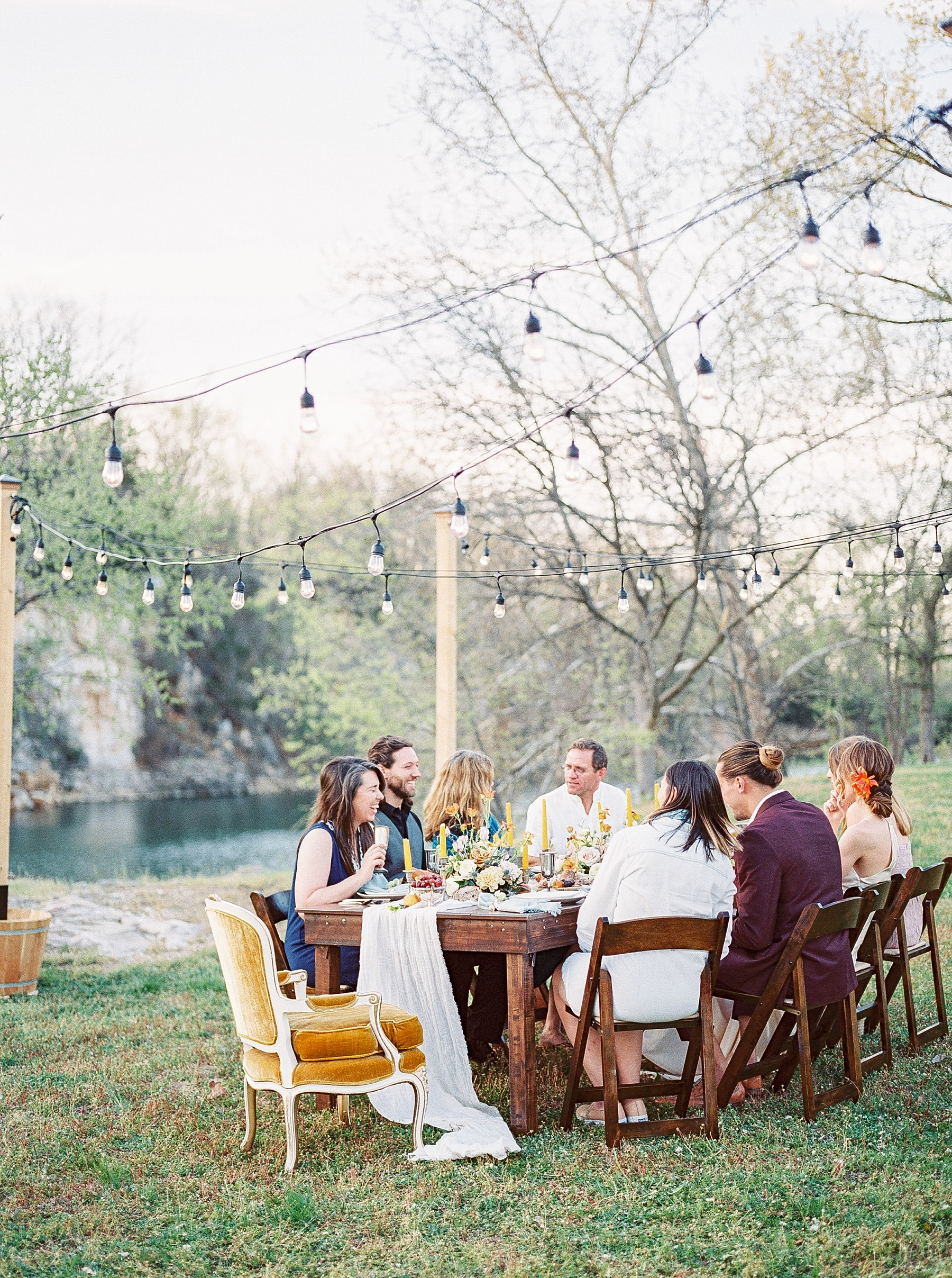 Intimate Spanish and French Inspired Destination Wedding with Lakeside Dinner Party at Dusk at Wildcliff by Kelsi Kliethermes Photography Best Missouri and Maui Wedding Photographer_0083.jpg