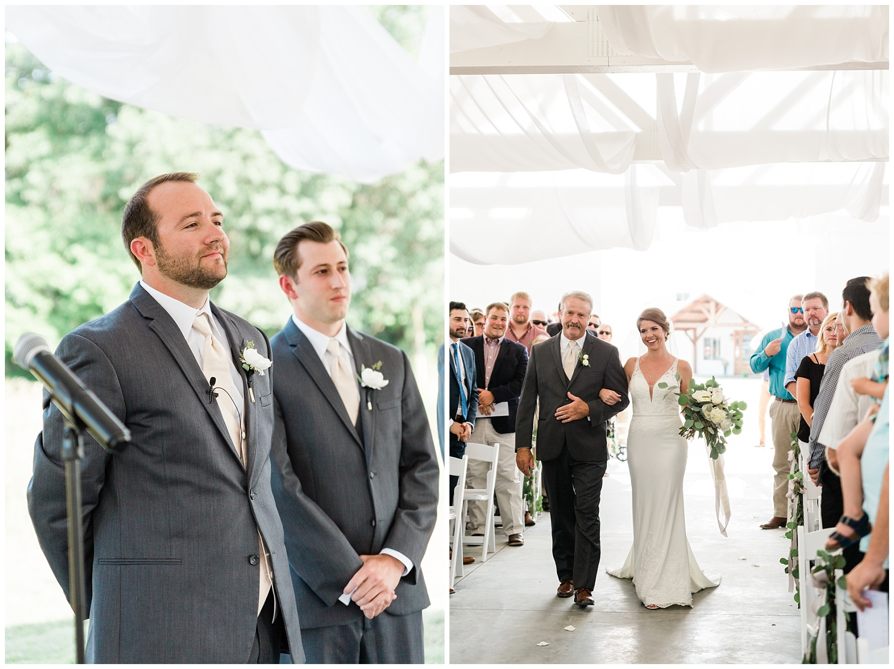Wedding Ceremony with Confetti Pop at Emerson Fields Venue by Associate Wedding Photographer for Kelsi Kliethermes Photography Best Columbia Missouri and Maui Hawaii Wedding Photographer_0047.jpg