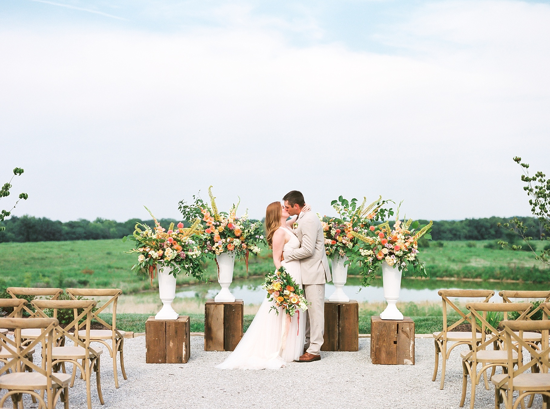 Late Summer Wedding With Pastel Toned Soiree at Blue Bell Farm by Kelsi Kliethermes Photography Best Columbia Missouri Wedding Photographer_0021.jpg