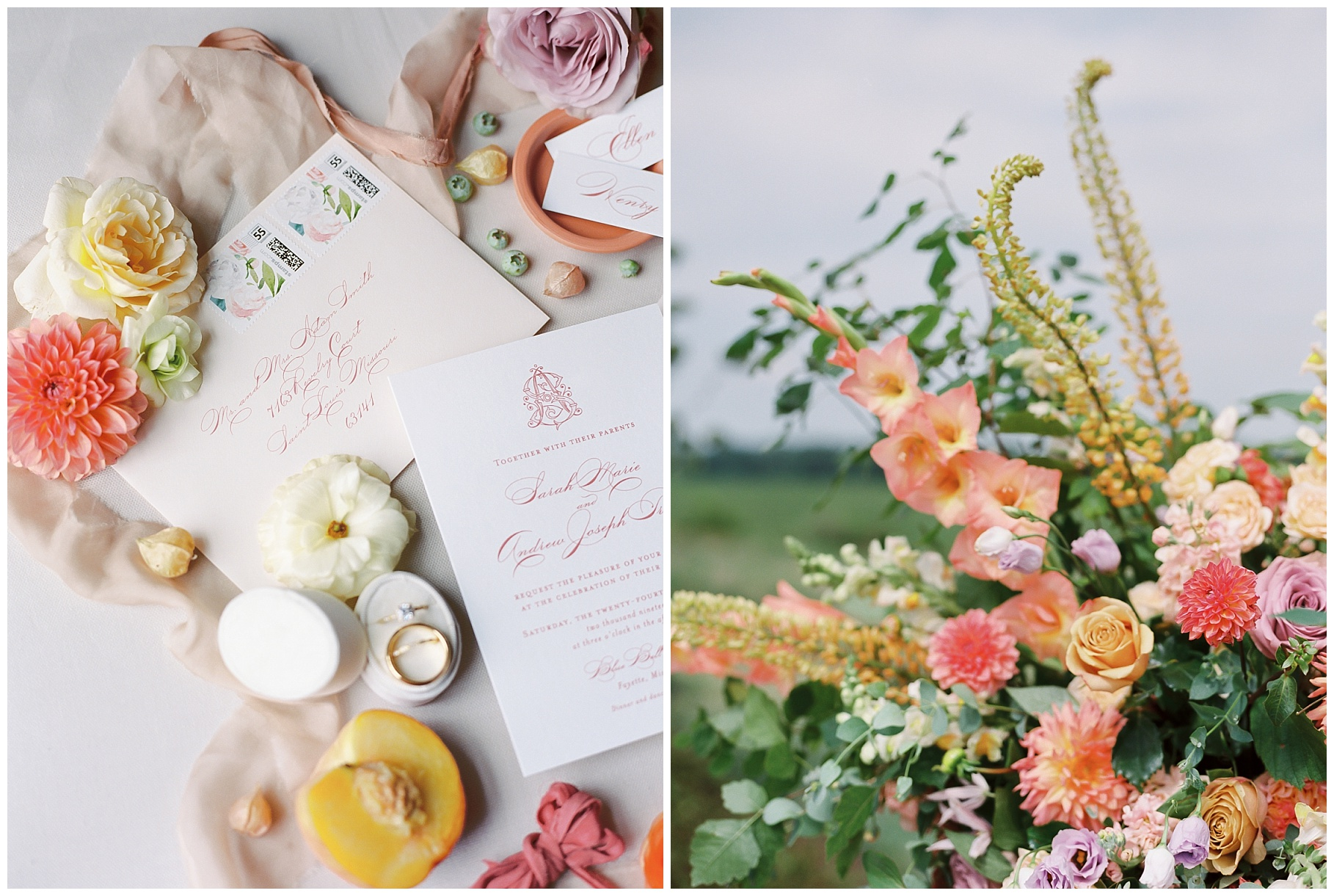 Late Summer Wedding With Pastel Toned Soiree at Blue Bell Farm by Kelsi Kliethermes Photography Best Columbia Missouri Wedding Photographer_0059.jpg