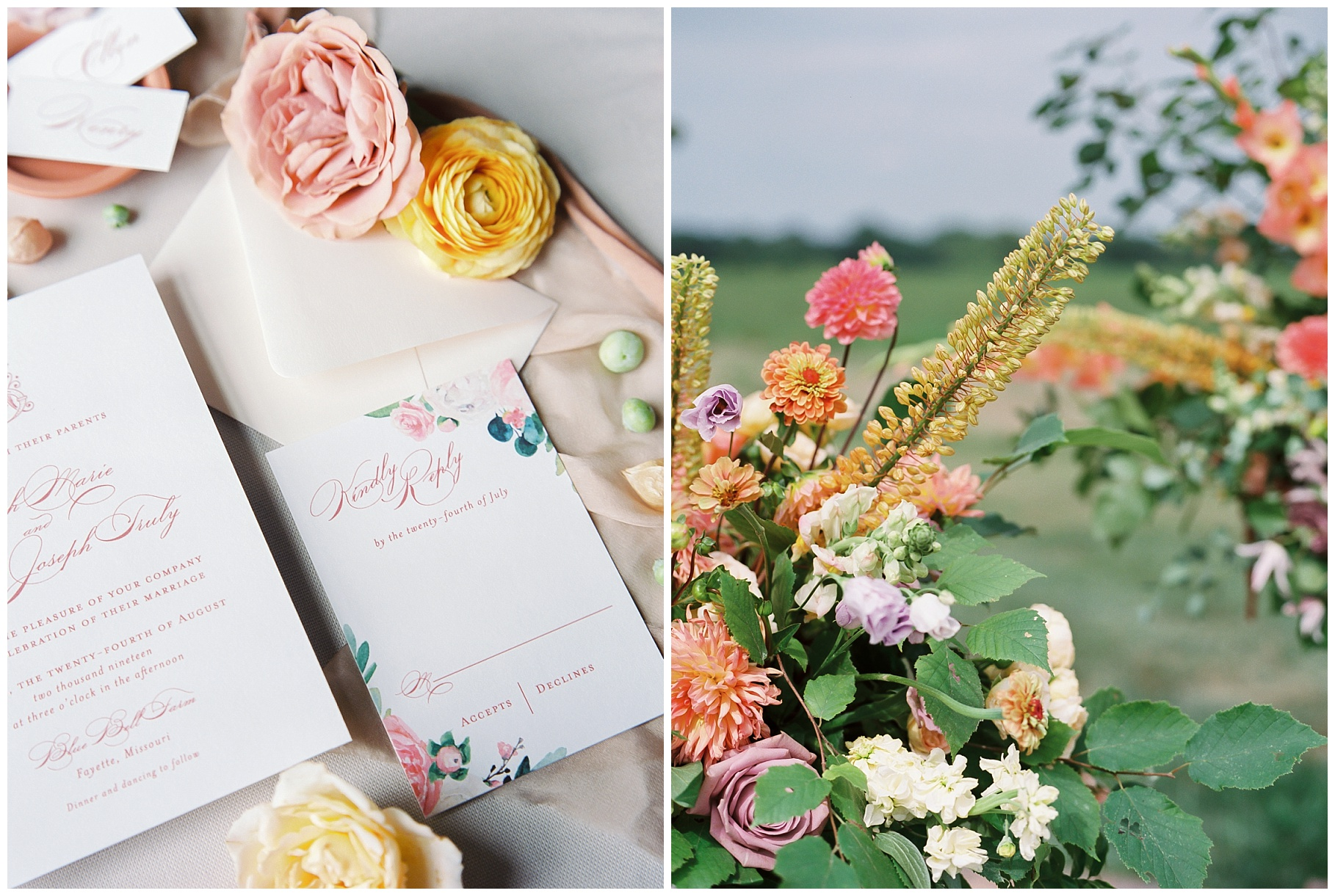 Late Summer Wedding With Pastel Toned Soiree at Blue Bell Farm by Kelsi Kliethermes Photography Best Columbia Missouri Wedding Photographer_0087.jpg