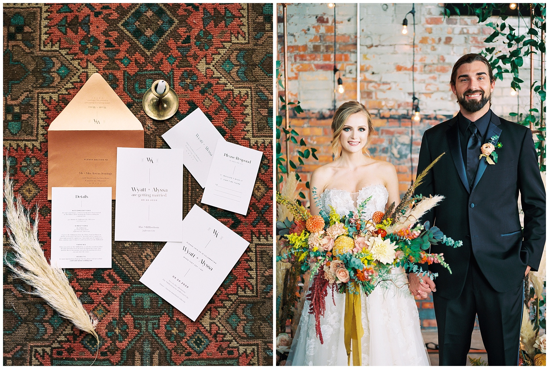 Urban Romance Wedding with Copper Accents at The Millbottom by Kelsi Kliethermes Photography Best Columbia Missouri Wedding Photographer_0021.jpg