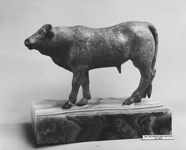 Bronze bull. Greek, second half of the 5th century B.C. Collection of The Metropolitan Museum of Art.