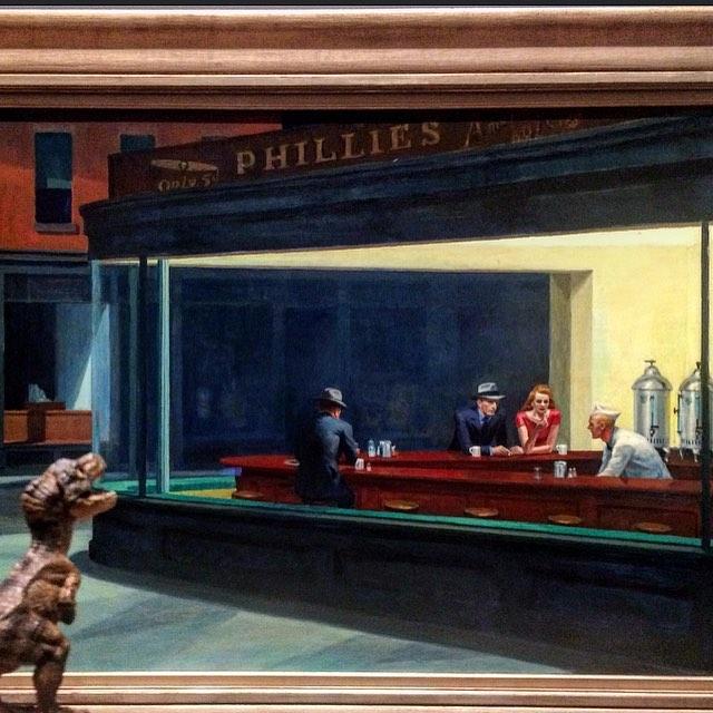 Edward Hopper, Nighthawks . Oil on canvas. (1942)