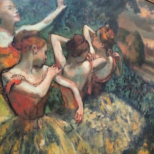 Edgar Degas,  Four Dancers . Oil on canvas. (1899)