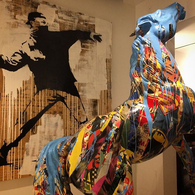 Works featured in the pop-up installation,  Life is Beautiful  by Mr. Brainwash.