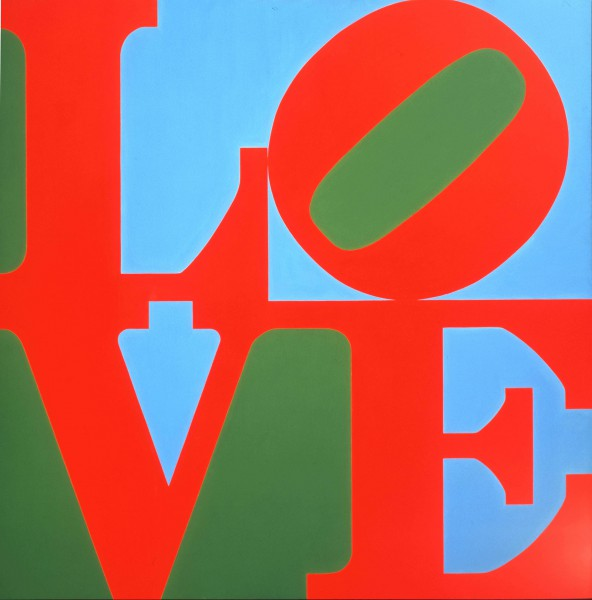 Robert Indiana,  LOVE . Screenprint. Collection of the Museum of Modern Art (MoMA). (1967)