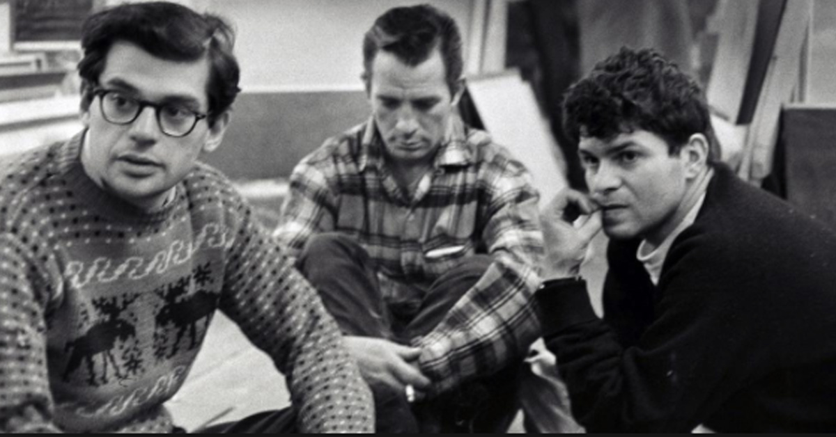 From left to right: Allen Ginsberg, Jack Kerouac, and Gregory Corso. Photo by Bruce Davidson, courtesy of the  Ginsberg Blog .