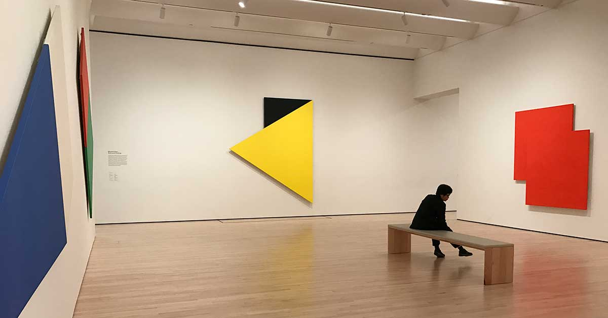 SFMoMA's installation of works by Ellsworth Kelly, whose art I never really appreciated until I saw it together in these galleries.