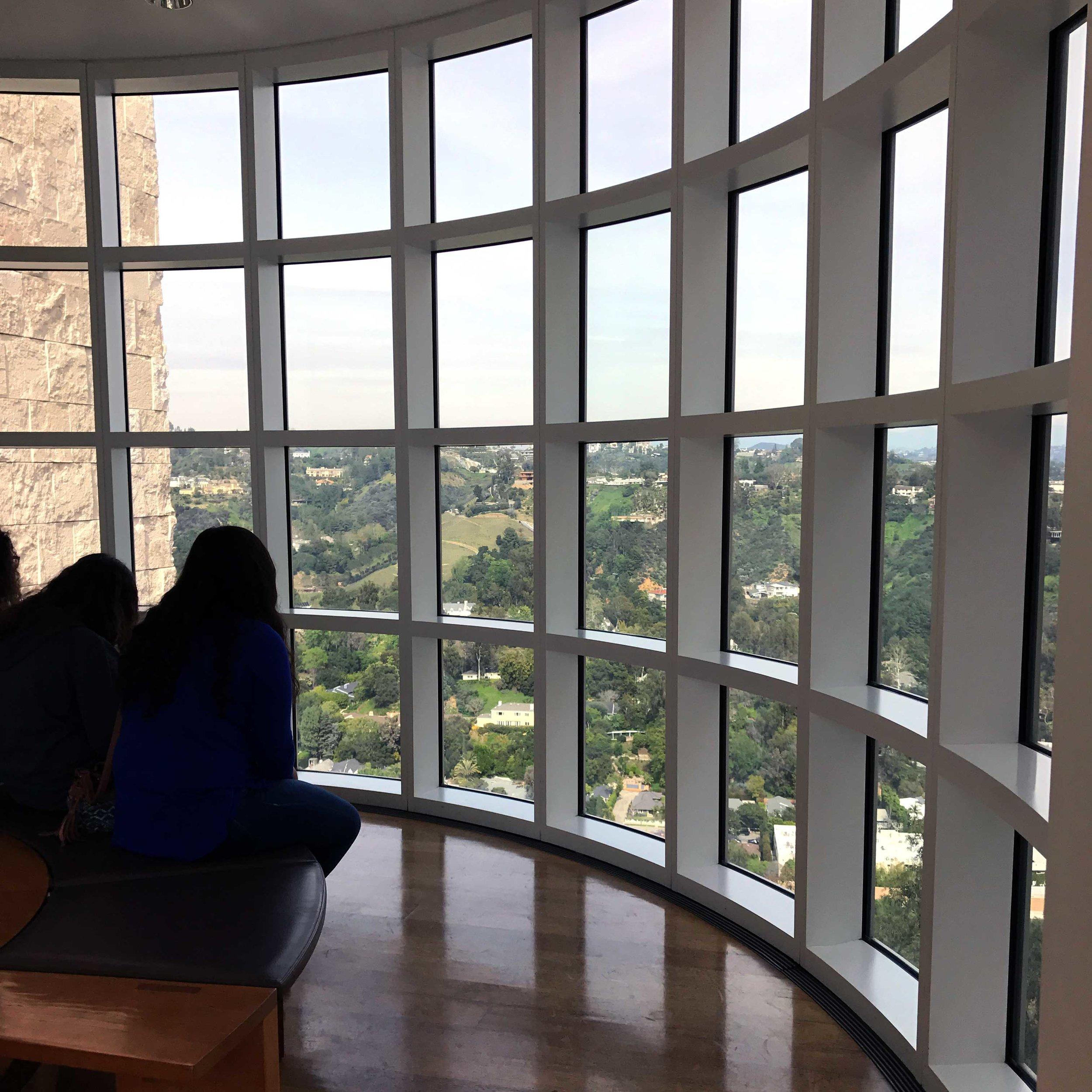 Window between pavilions