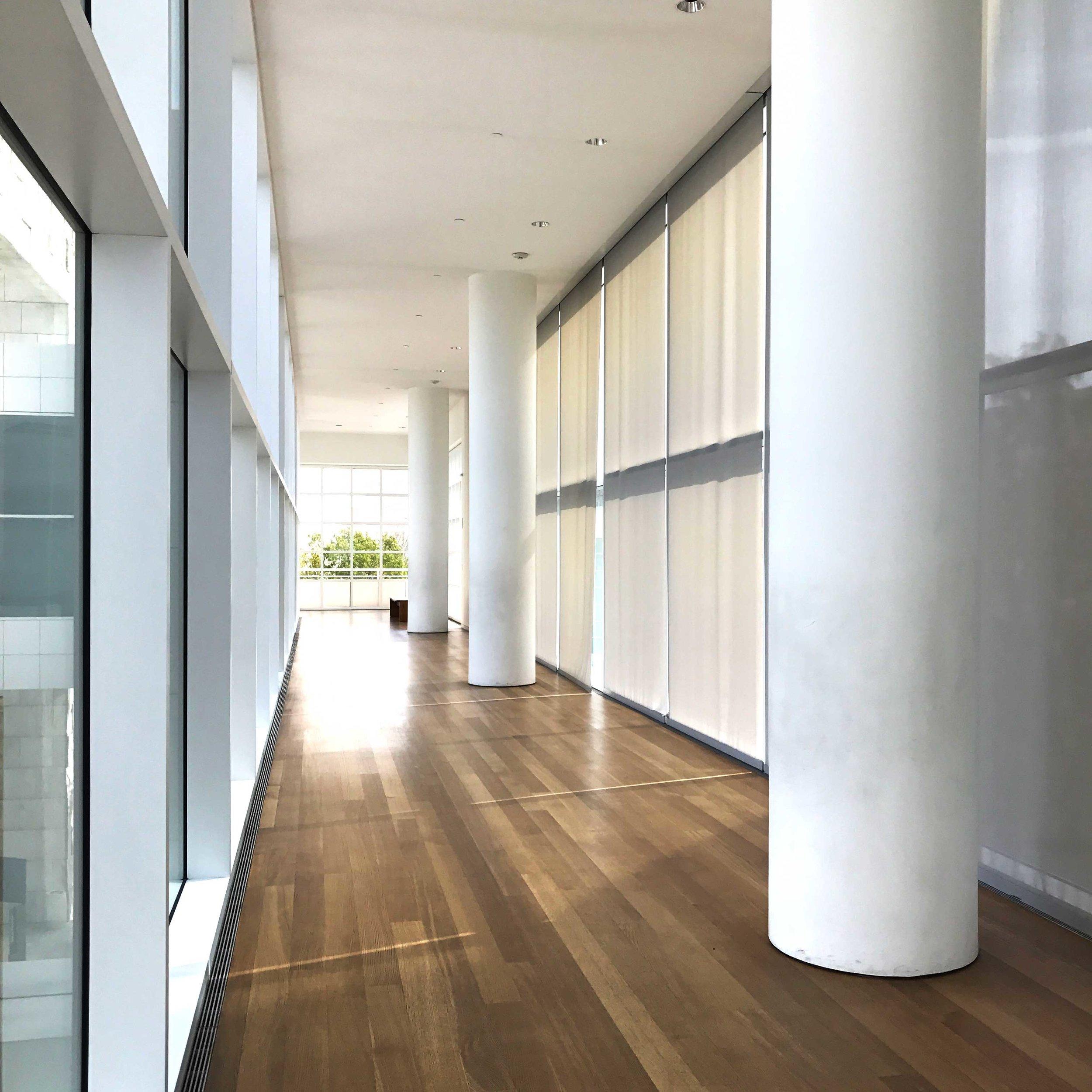 Hallway between pavilions