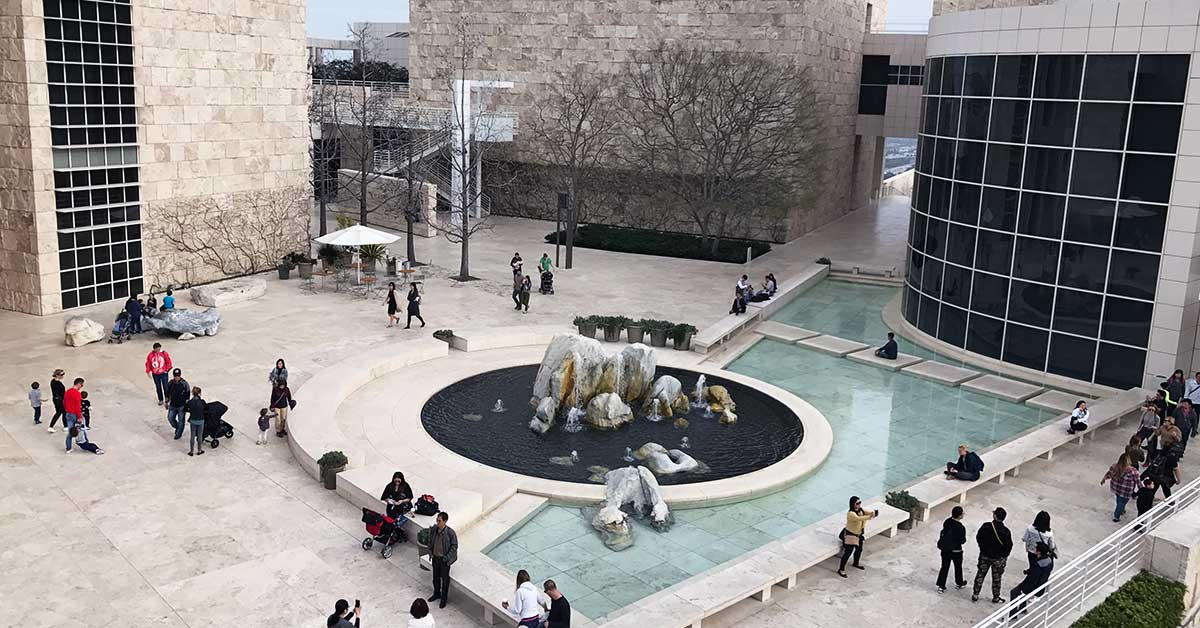 Courtyard of the Getty Center