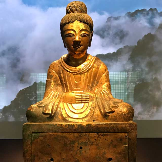 Buddha dated 338 . China; Hebei province.