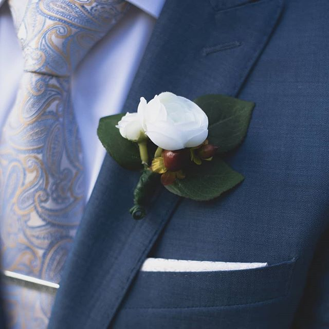It's all in the details... #wedding #groom #details #flowers #corsage #weddingdetails