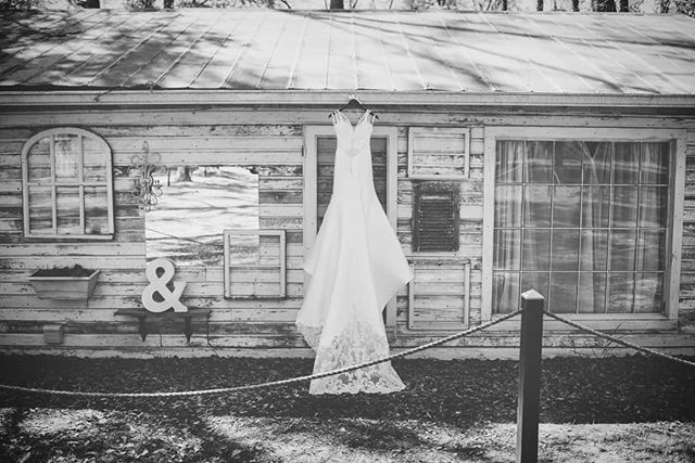 Outdoor venues are the best. Don't let anyone tell you otherwise.  #weddingdress #weddingphotography #nikon #blackandwhite