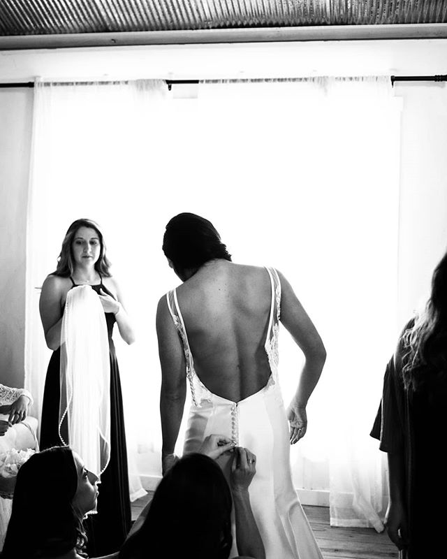 Sometimes it takes a village... and very careful assembly.  #wedding #weddingphotography #blackandwhite #nofilter #bride