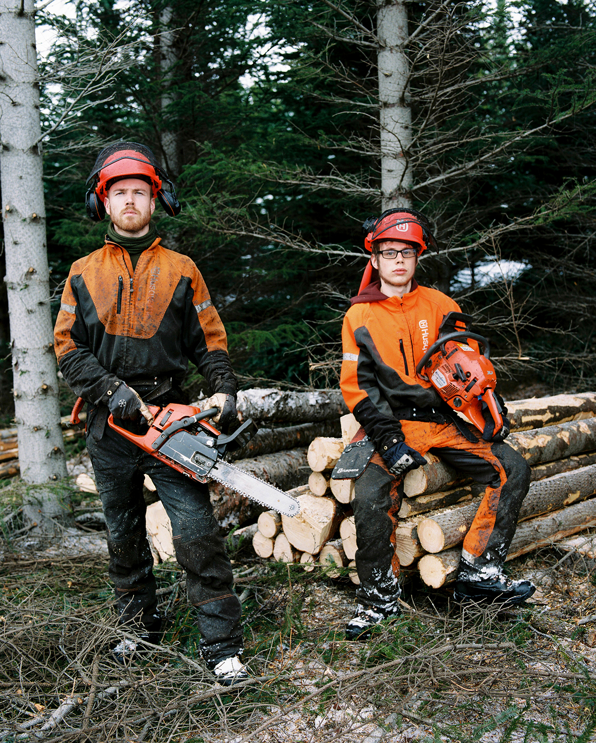 Hjalti and Ivar work for the Forestry services in Hallormsstaður National Forest, located near Eglisstaðir. Hjalti has worked there for one year and Ivar for six. Within Hallormsstaður there are 85 tree and shrub species from 600 places in the world. Gathered from places with similar climates such as Northern Scandinavia, British Columbia, Russia, and Alaska.