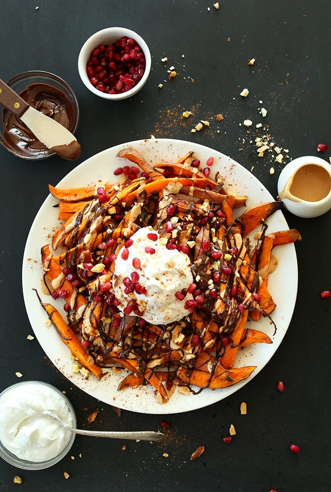 Sweet-Potato-Superfood-Dessert-Fries-Sweet-Potatoes-Dark-Chocolate-PB-Pomegranate-Coconut-whip-and-Toasted-Nuts.jpg