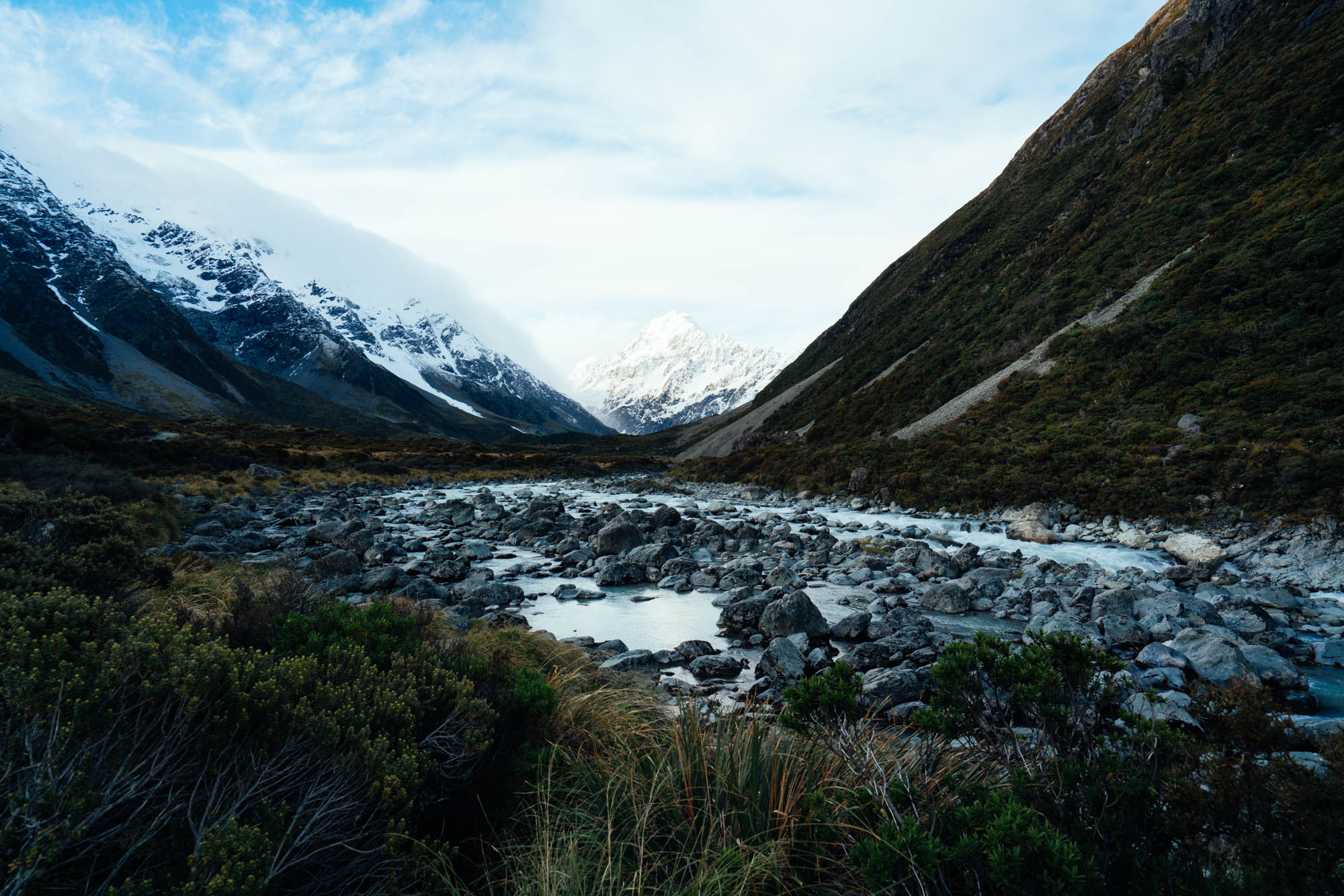 Finding my path - Hooker Valley, New Zealand.
