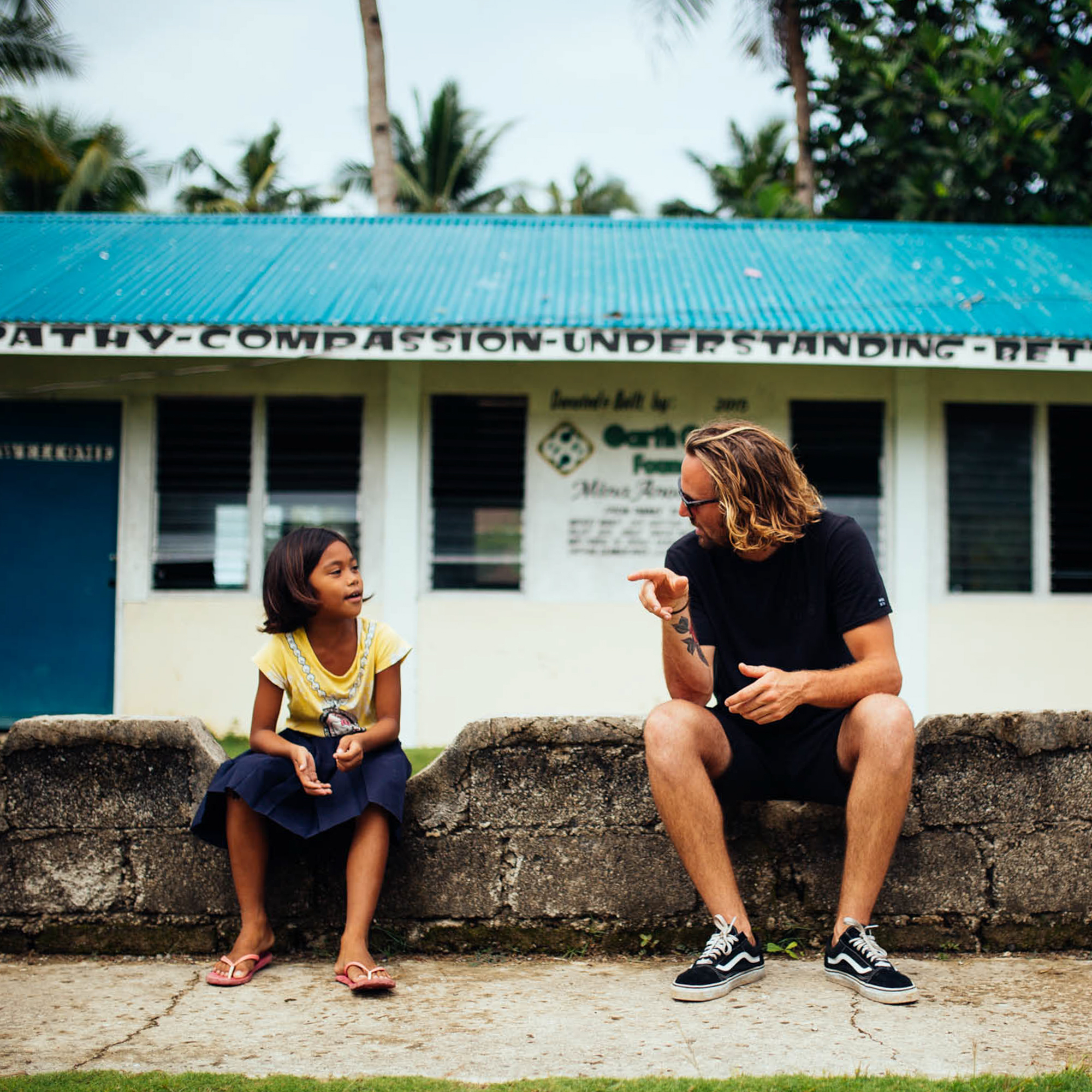 My brother, Josh Hallam, and an image of love and understanding. Philippines Adventure 2016.