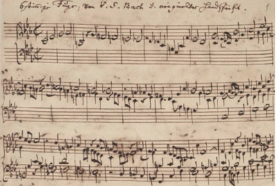 The opening of J.S. Bach's  Musical Offering  (Berlin State Library photo)