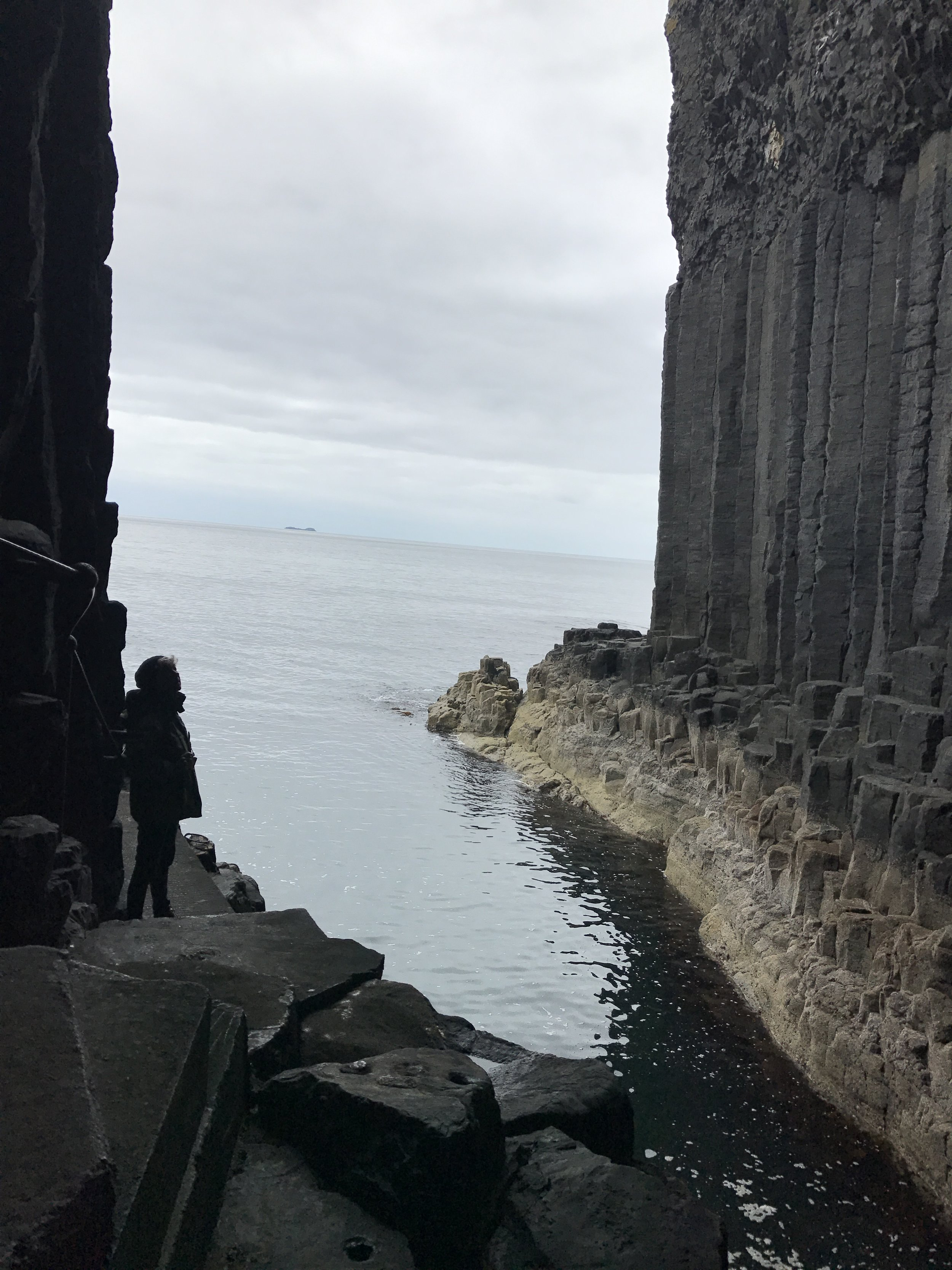 View out of Fingal's Cave, Island of Staffa, Scotland
