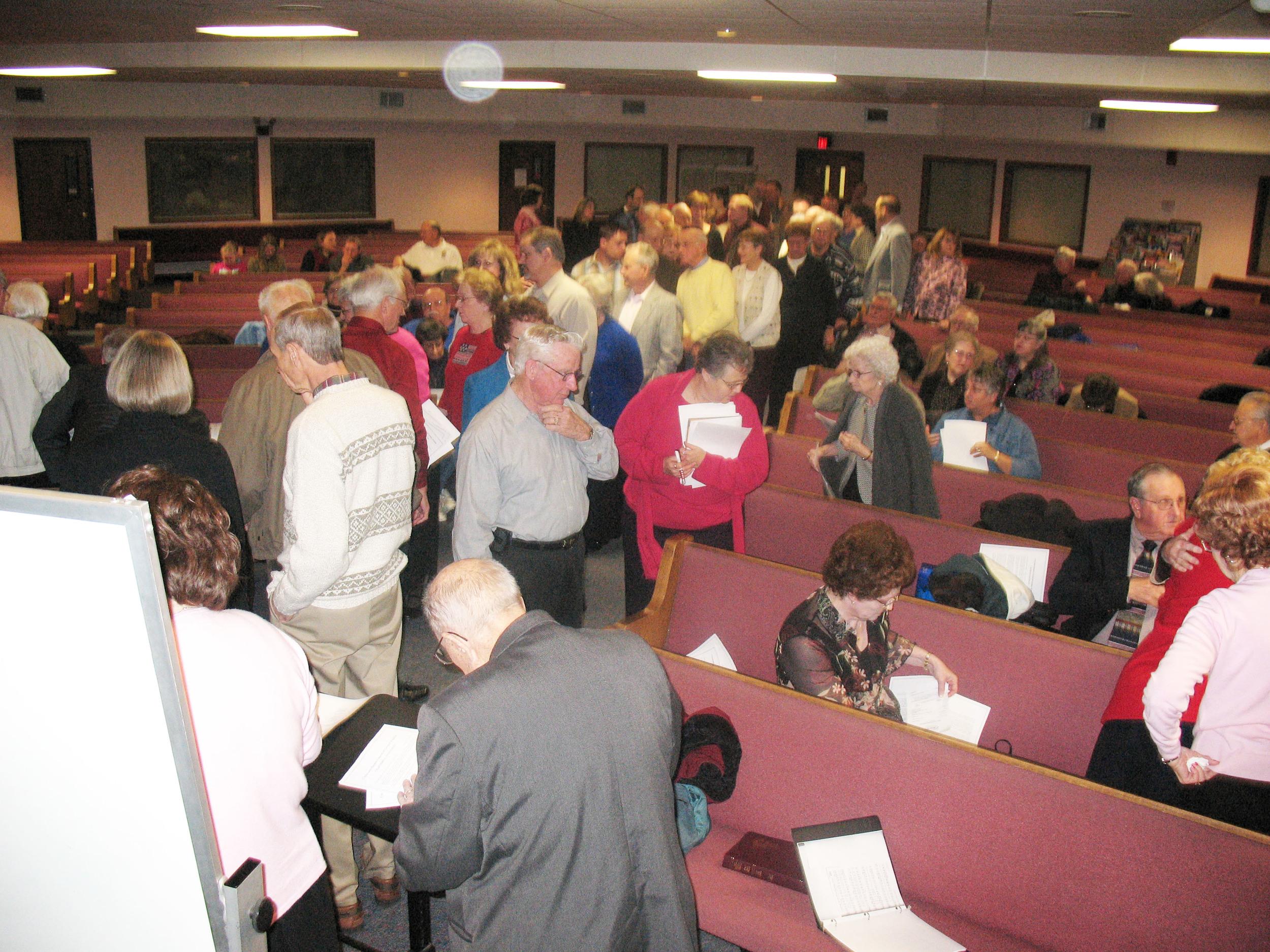 Organizational Meeting at Sunrise Christian Academy on February 11, 2007. 130 Charter Members.