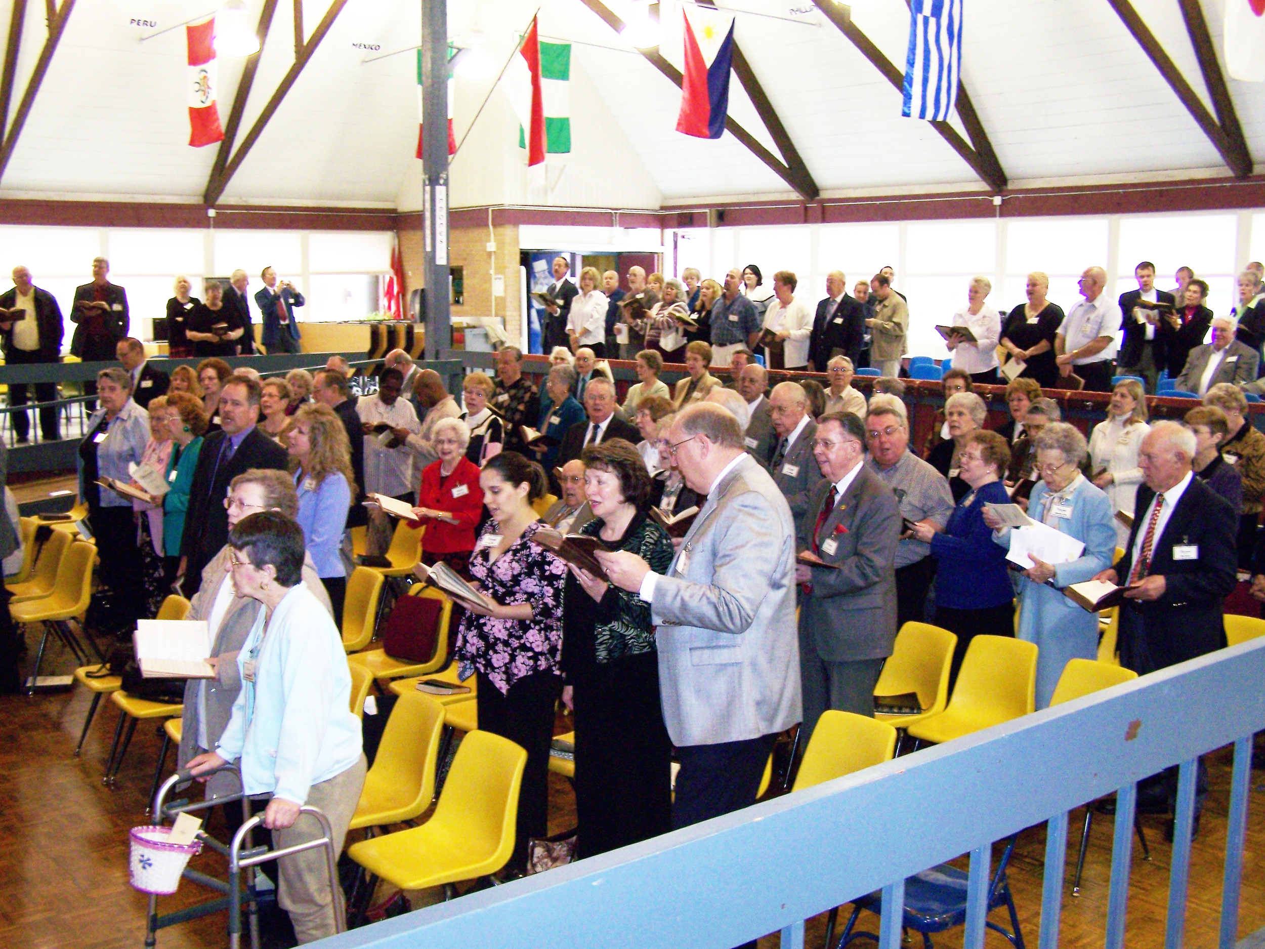 Our first worship service on March 11, 2007 at the Rounds Fine Art Center of Wichita Collegiate School.