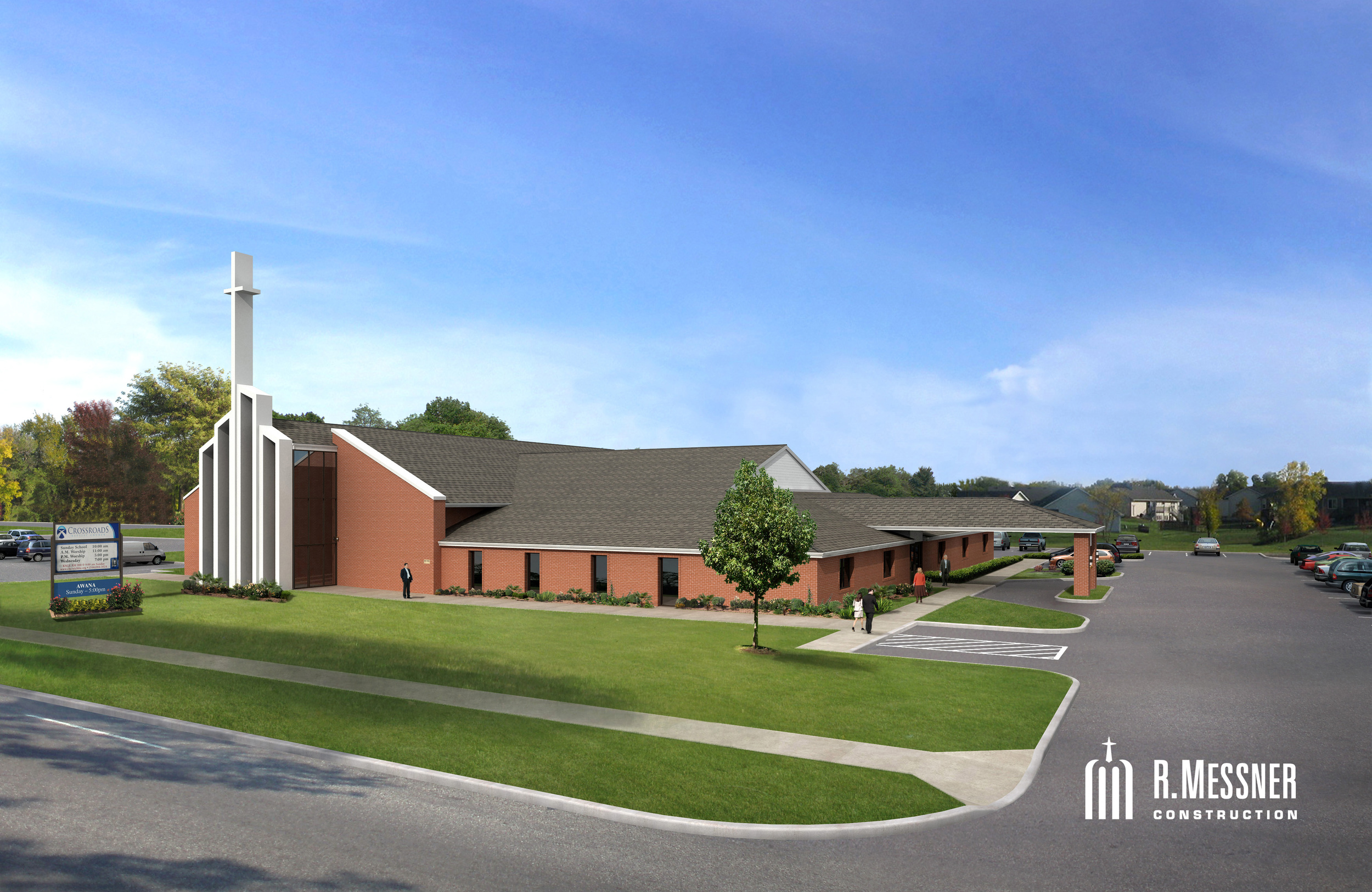 Proposed phase one expansion to include a new nursery complex, new restrooms, new classrooms, and a covered drop-off area. The plans have already been paid for and we are growing our building fund to accomplish the dream the Lord has given us.