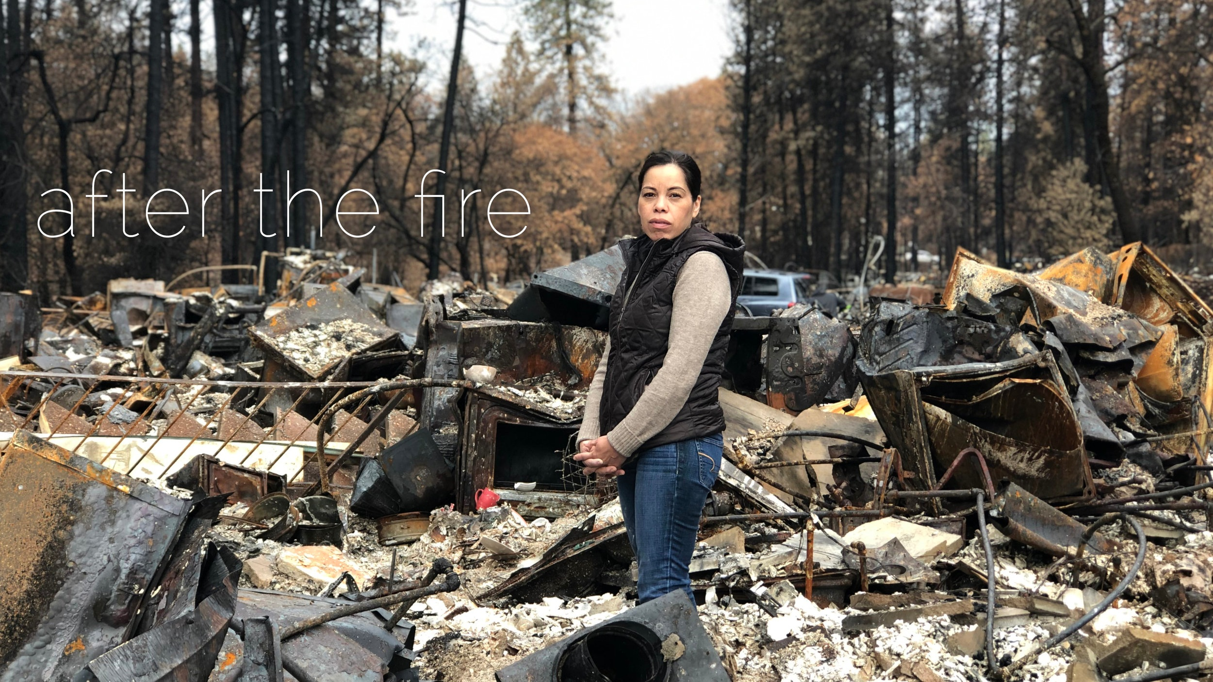 Norma Alicia Pérez survived the northern California fire with her two children. Just before Christmas she was finally able to visit their home and see the damage first hand. She plans to move to another city and start over