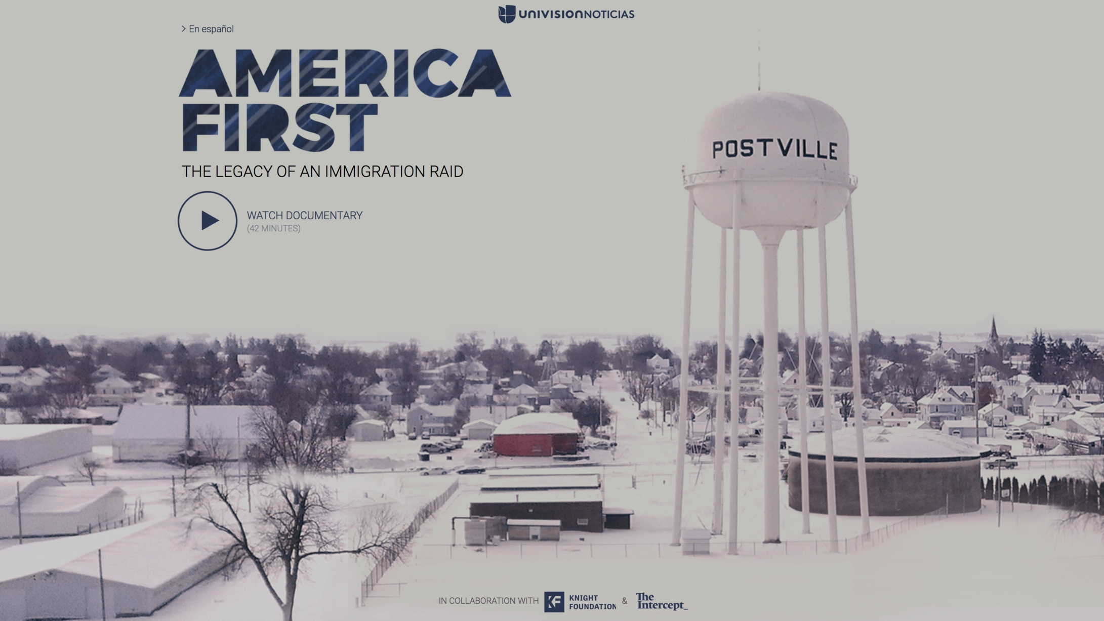 This documentary examines the repercussions of one of the largest workplace immigration raids in the U.S., and the long term effects on Postville, Iowa, where the raid took place.