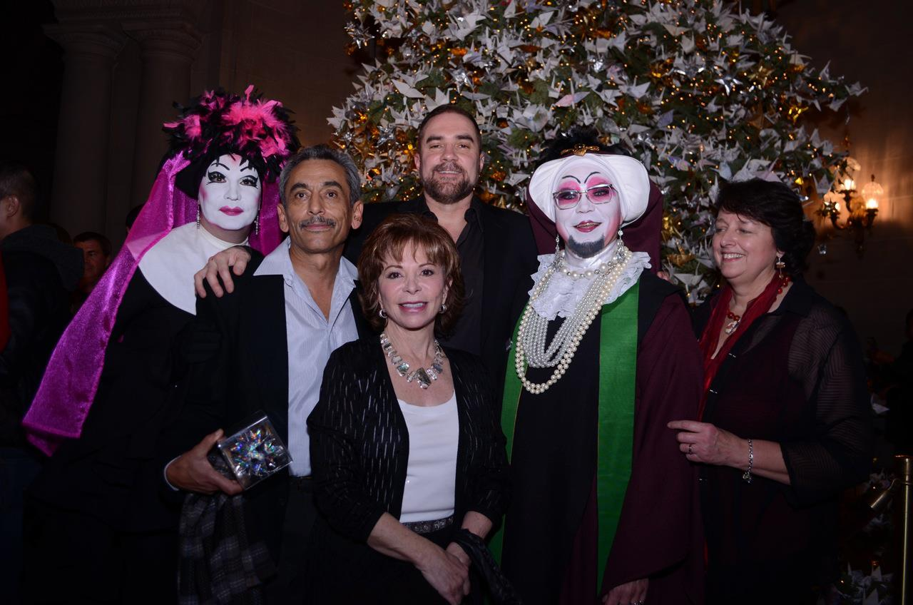 The Sisters of Perpetual Indulgence join San Francisco Poet Laureate, Alejandro   Murguía,, author Isabel Allende, RWF Founder Jeff Cotter, and Lucy Vargas at the 2012 tree.