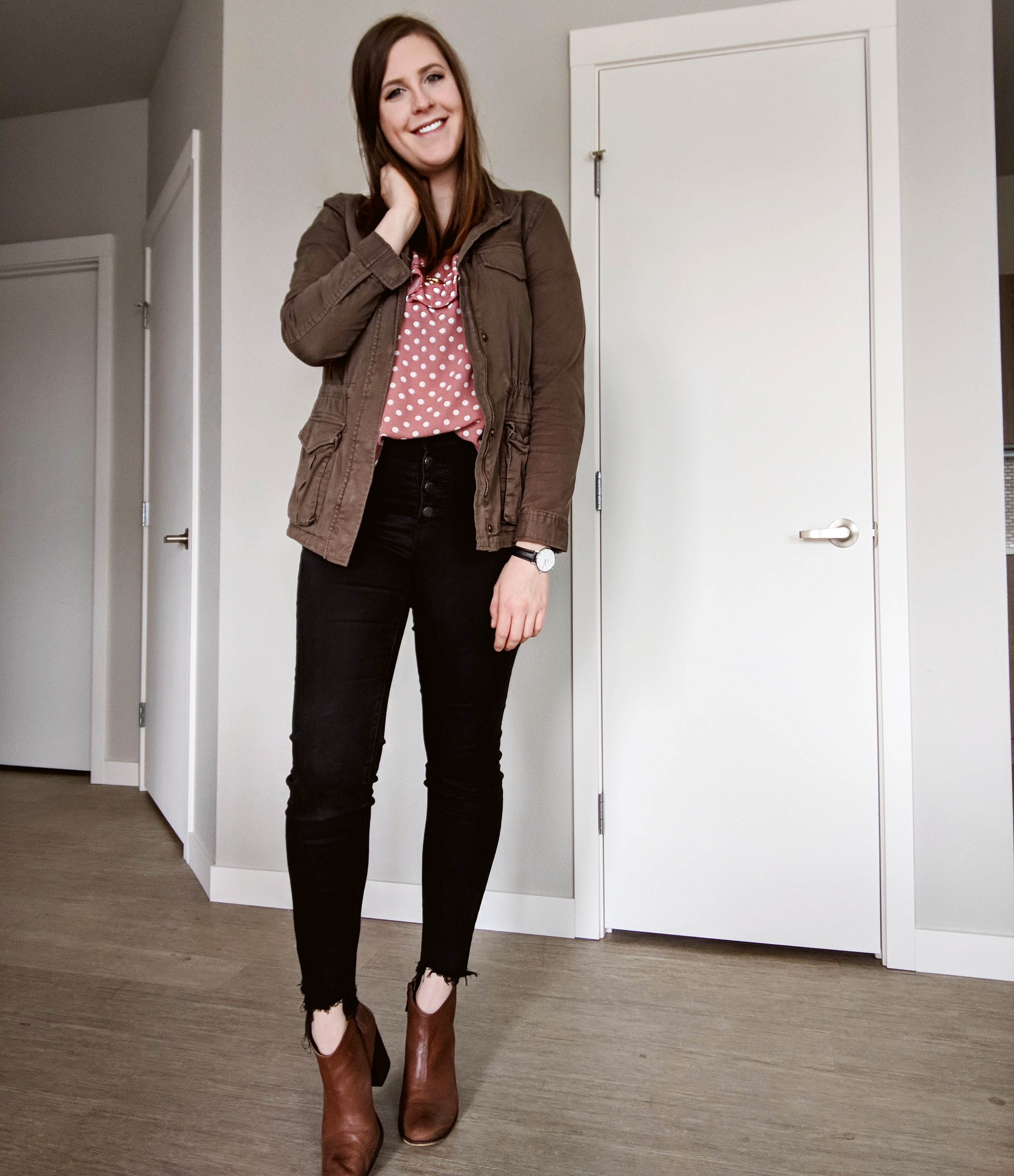 spring layers outfit