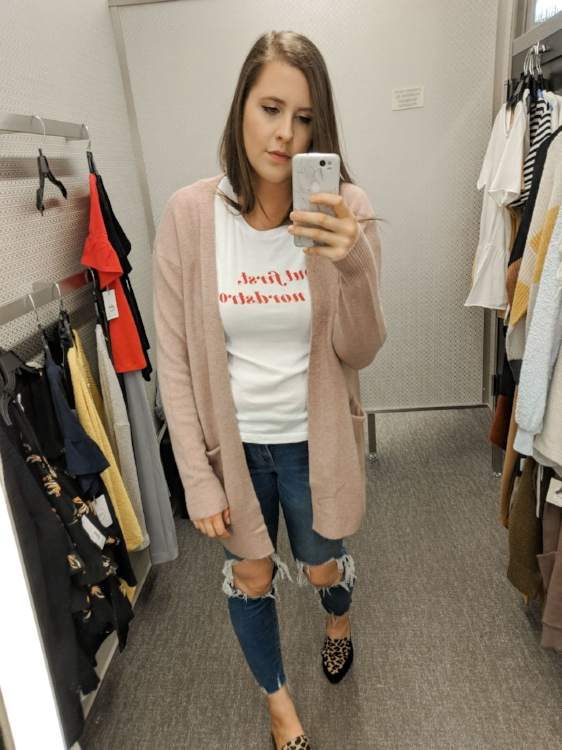 Blush Madewell Cardigan Nordstrom Anniversary Sale Style By Julianne