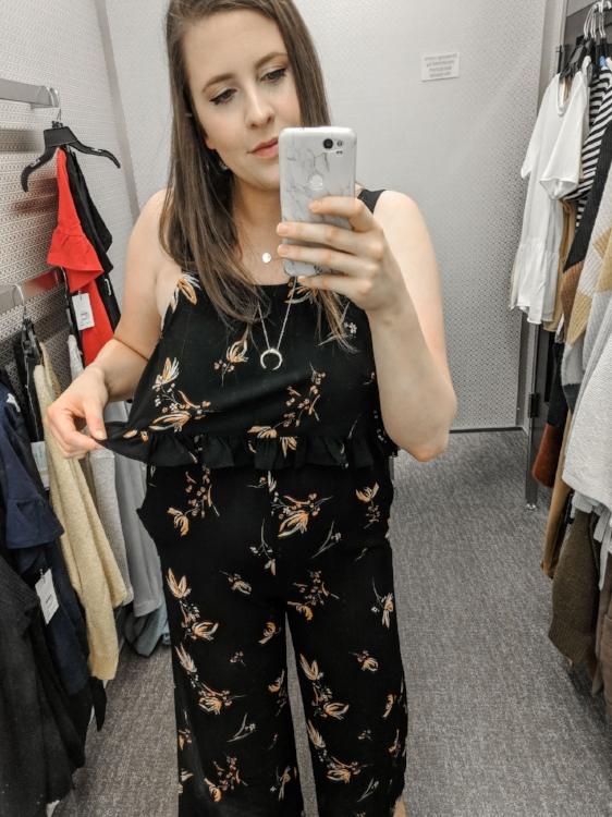 Black Floral BP Jumpsuit Nordstrom Anniversary Sale Style by Julianne