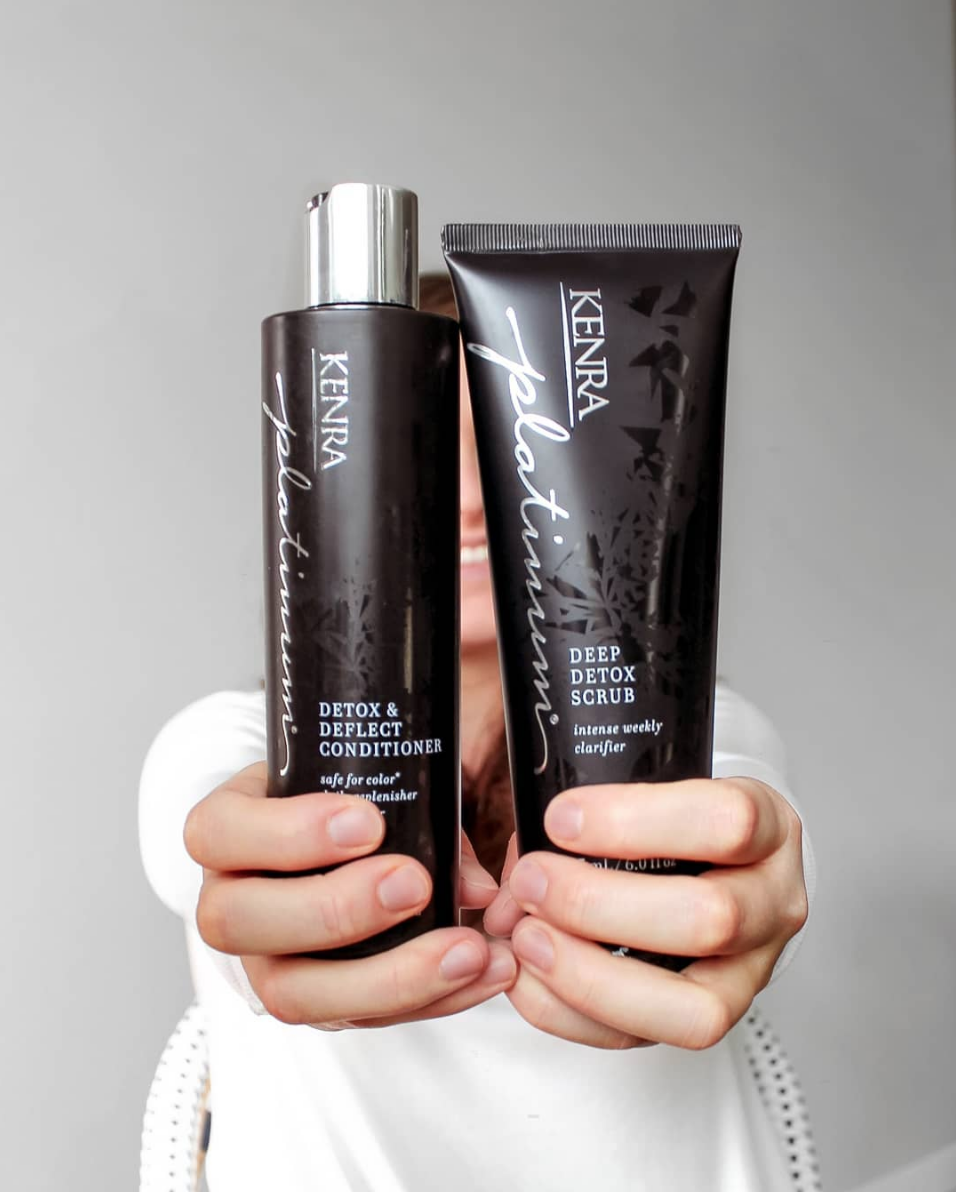 Clarify Scrub - I raved about this new line of Kenra products alllll week long! I've used this scrub now for the past 3 weeks and it has changed the GAME for me! Not only am I loving the chic packaging, I've never found such a gentle yet effective cleansing shampoo. And my hair is finicky, fine, and unpredictable. Get it. ASAP!SHAMPOO // CONDITIONER // HAIR SCRUB // HAIR SPRAY //