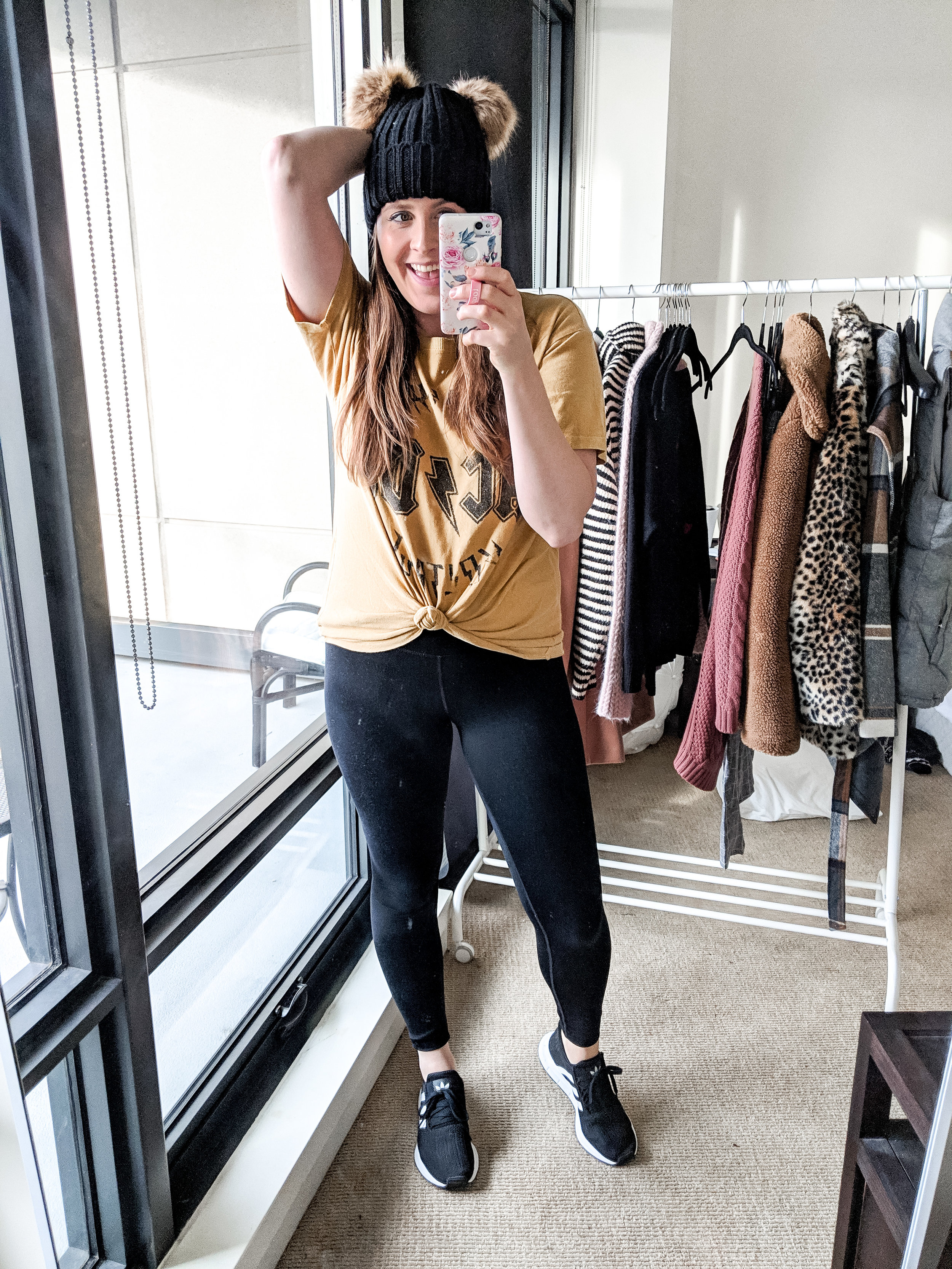 acdc graphic tee athleisure look style by julianne