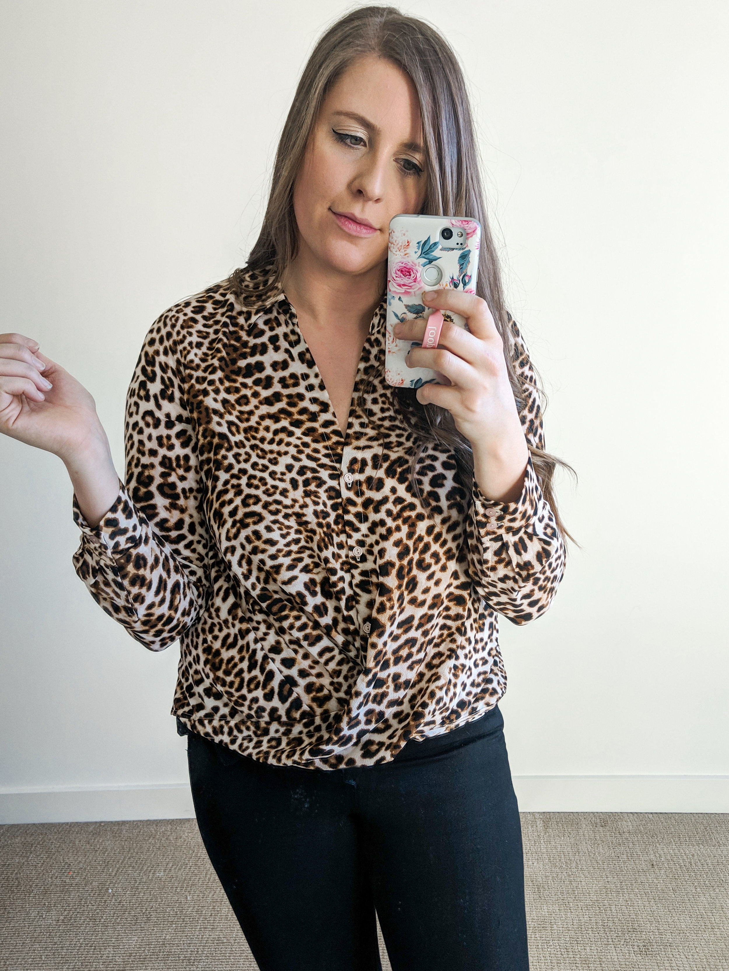 Leopard Blouse Nordstrom Style by Julianne